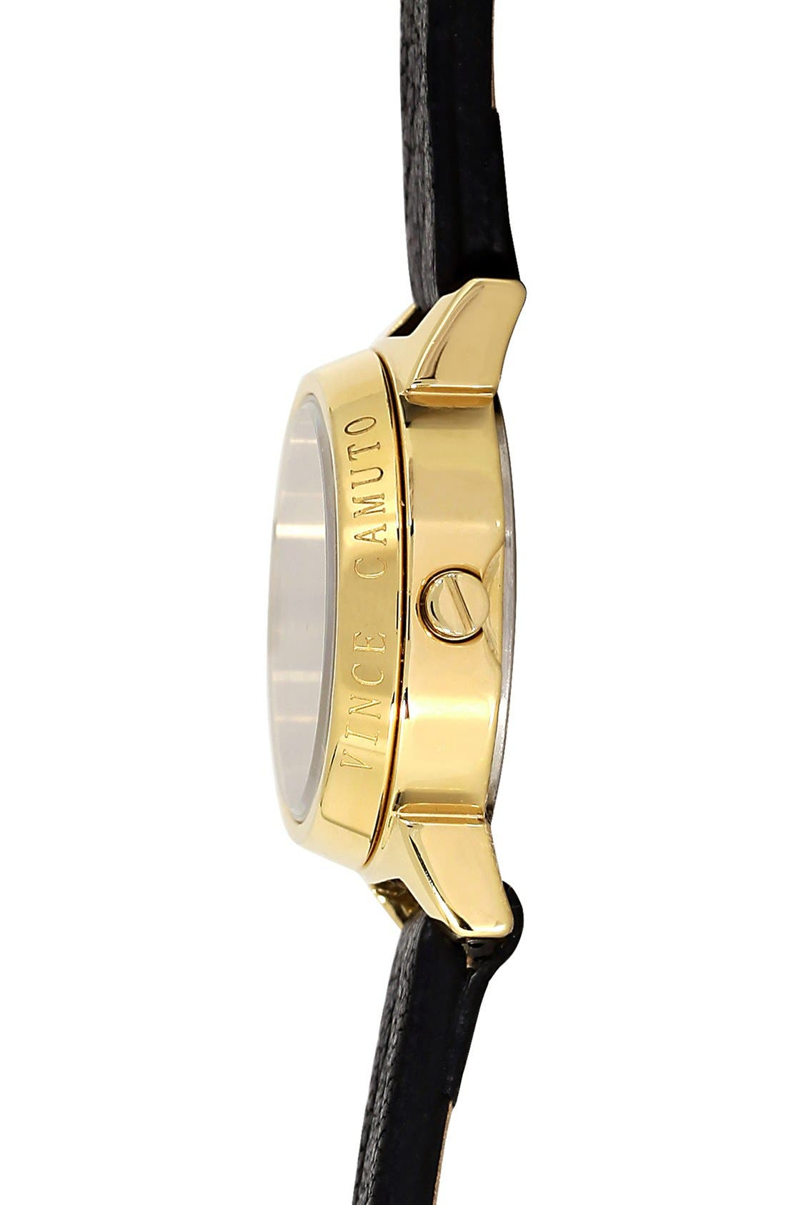 Alternate Image 2  - Vince Camuto Chain Detail Leather Wrap Watch, 24mm