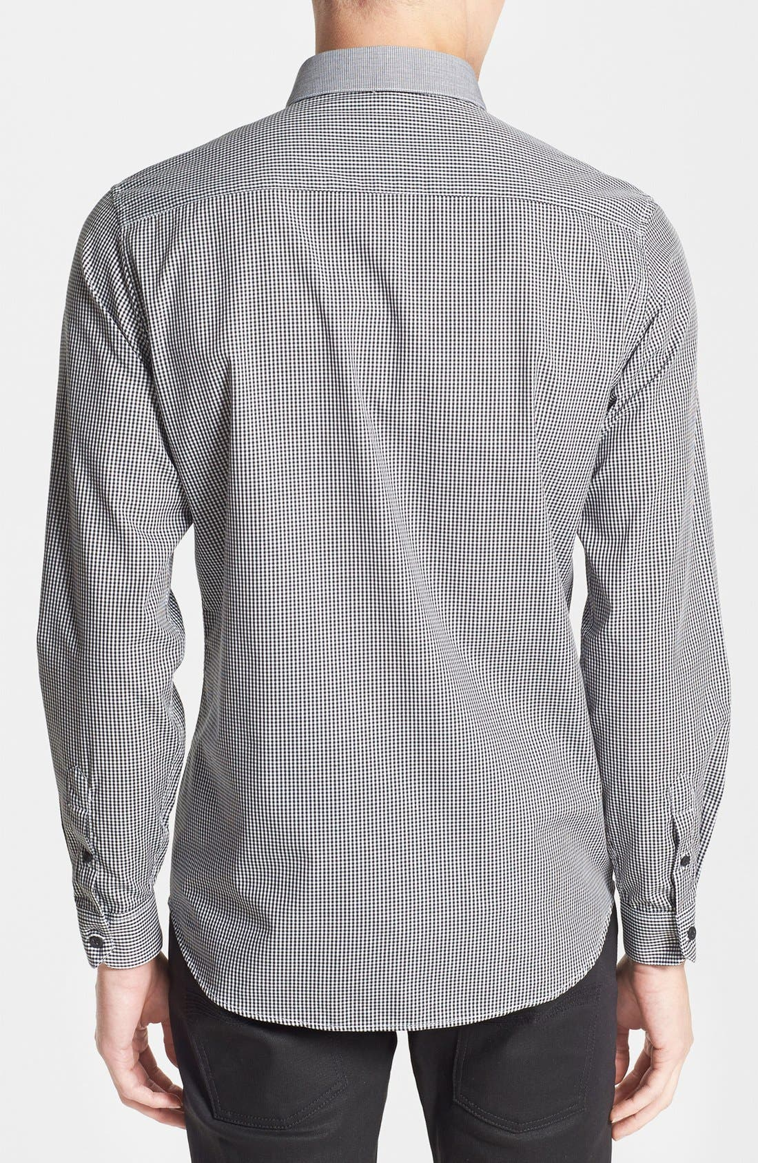 Alternate Image 2  - Topman Slim Fit Mixed Gingham Dress Shirt
