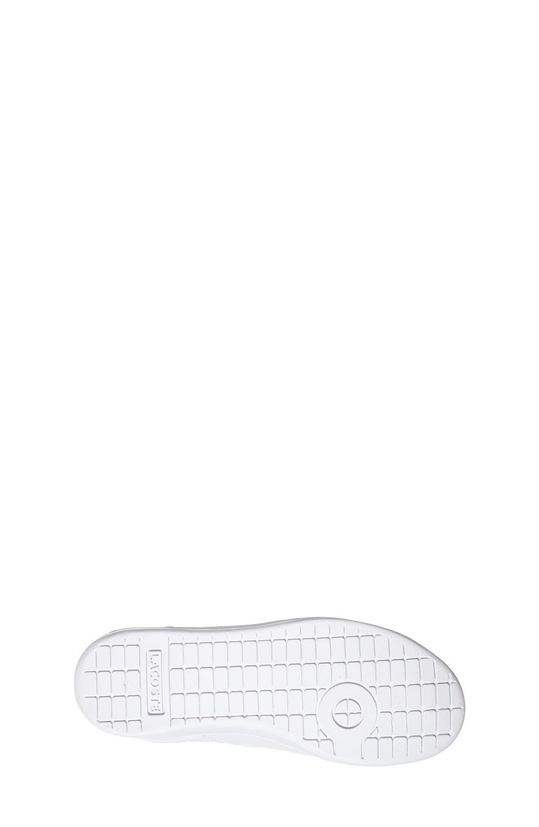Alternate Image 4  - Lacoste 'Carnaby' Sneaker (Toddler & Little Kid)