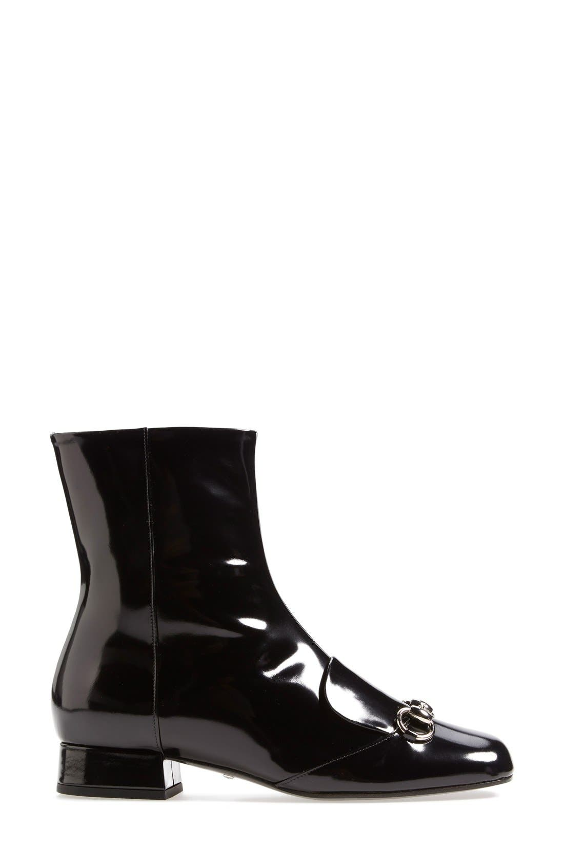 Alternate Image 4  - Gucci 'Lillian' Horsebit Ankle Bootie (Women)
