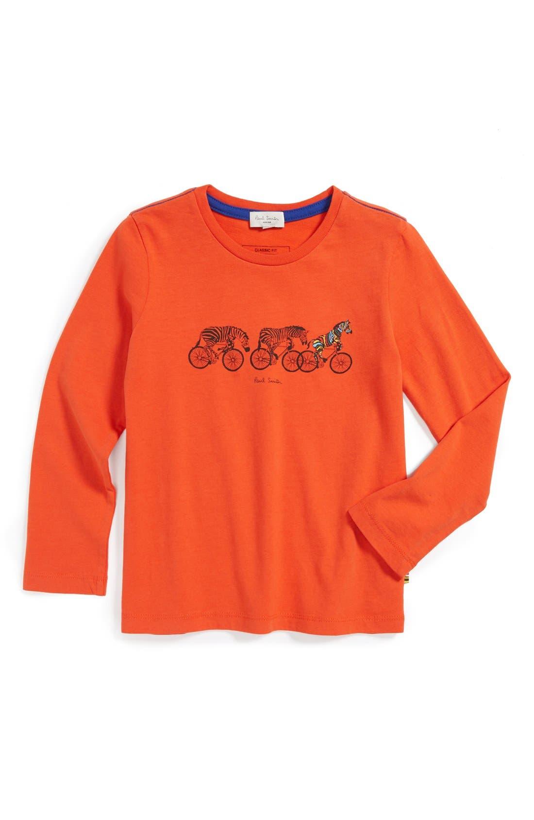 Main Image - Paul Smith Junior 'Zebras on Bikes' Long Sleeve T-Shirt (Toddler Boys, Little Boys & Big Boys)