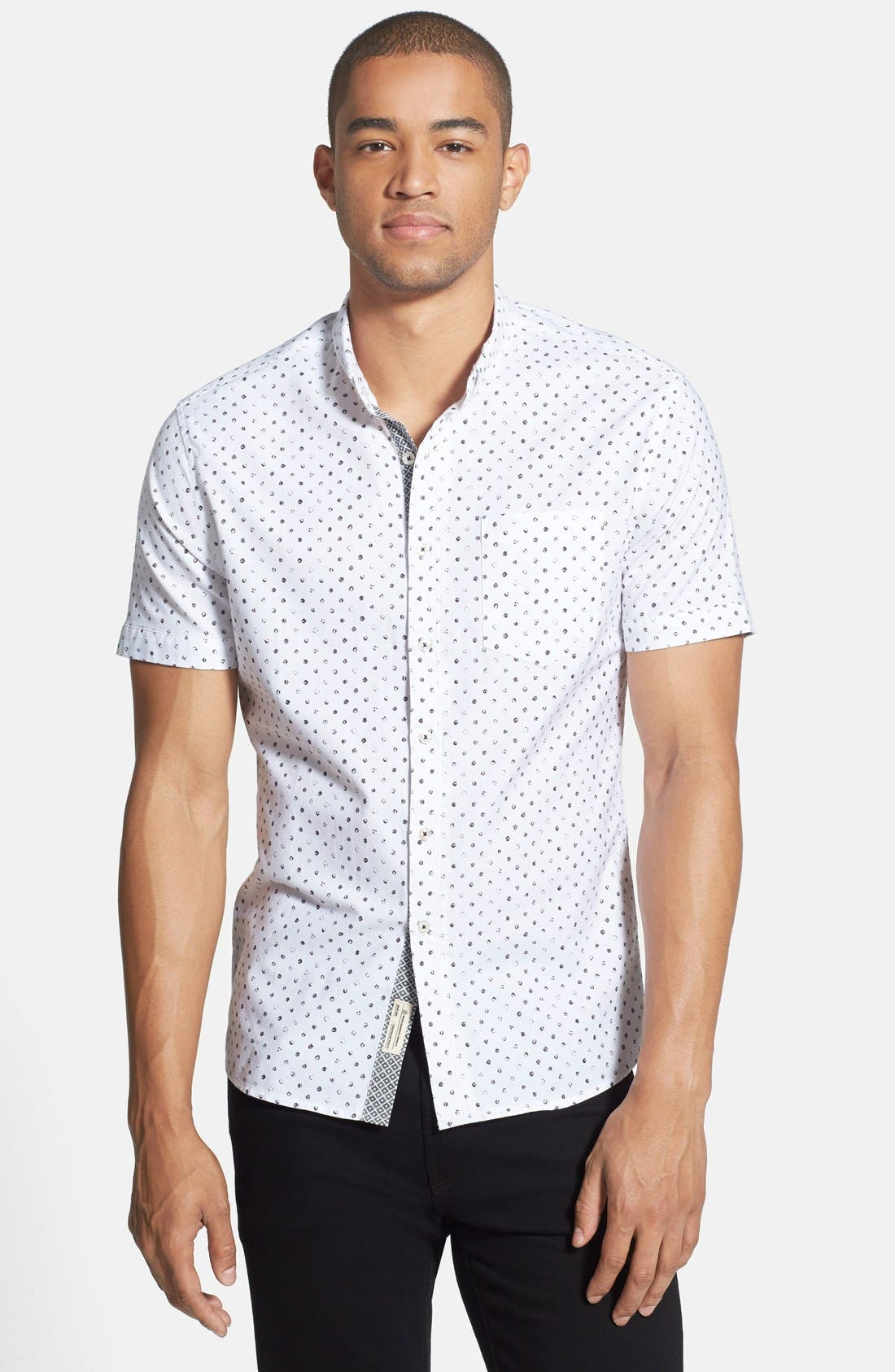 Alternate Image 1 Selected - 7 Diamonds 'Penny' Print Short Sleeve Woven Shirt