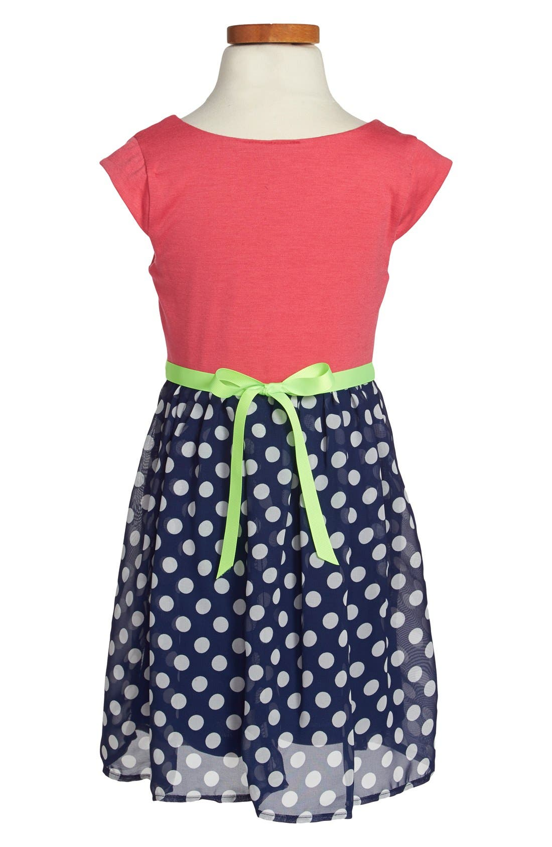 Alternate Image 2  - Zunie Cap Sleeve Floral Print Dress (Toddler Girls, Little Girls & Big Girls)