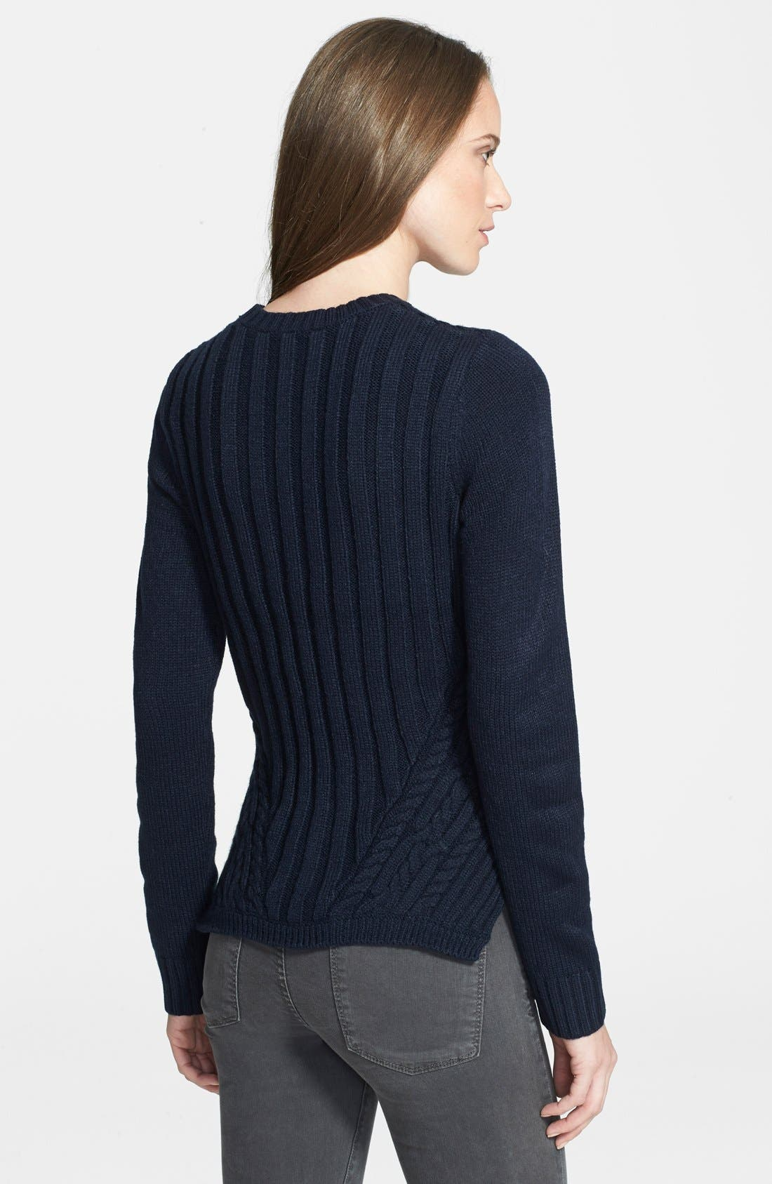 Alternate Image 2  - Ted Baker London 'Daisuma' Cable Engineered Sweater