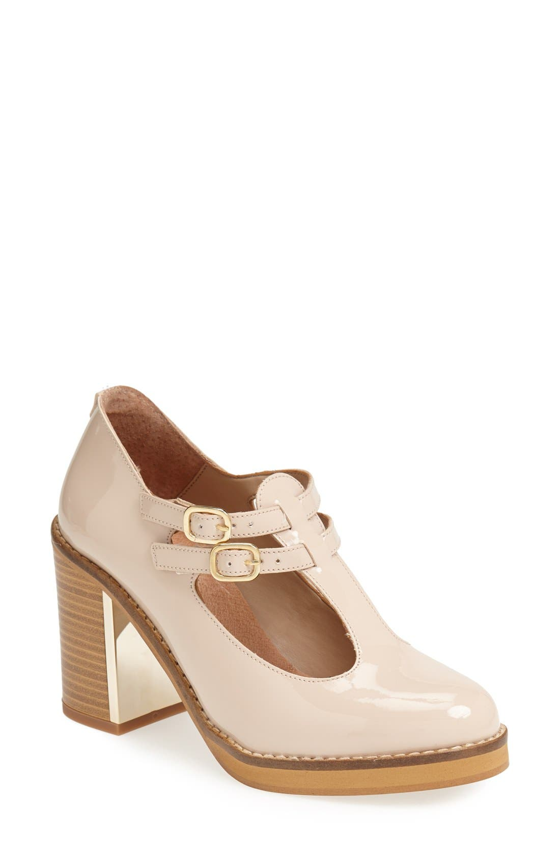 Main Image - Topshop 'Gess' Mary Jane T-Strap Pump (Women)