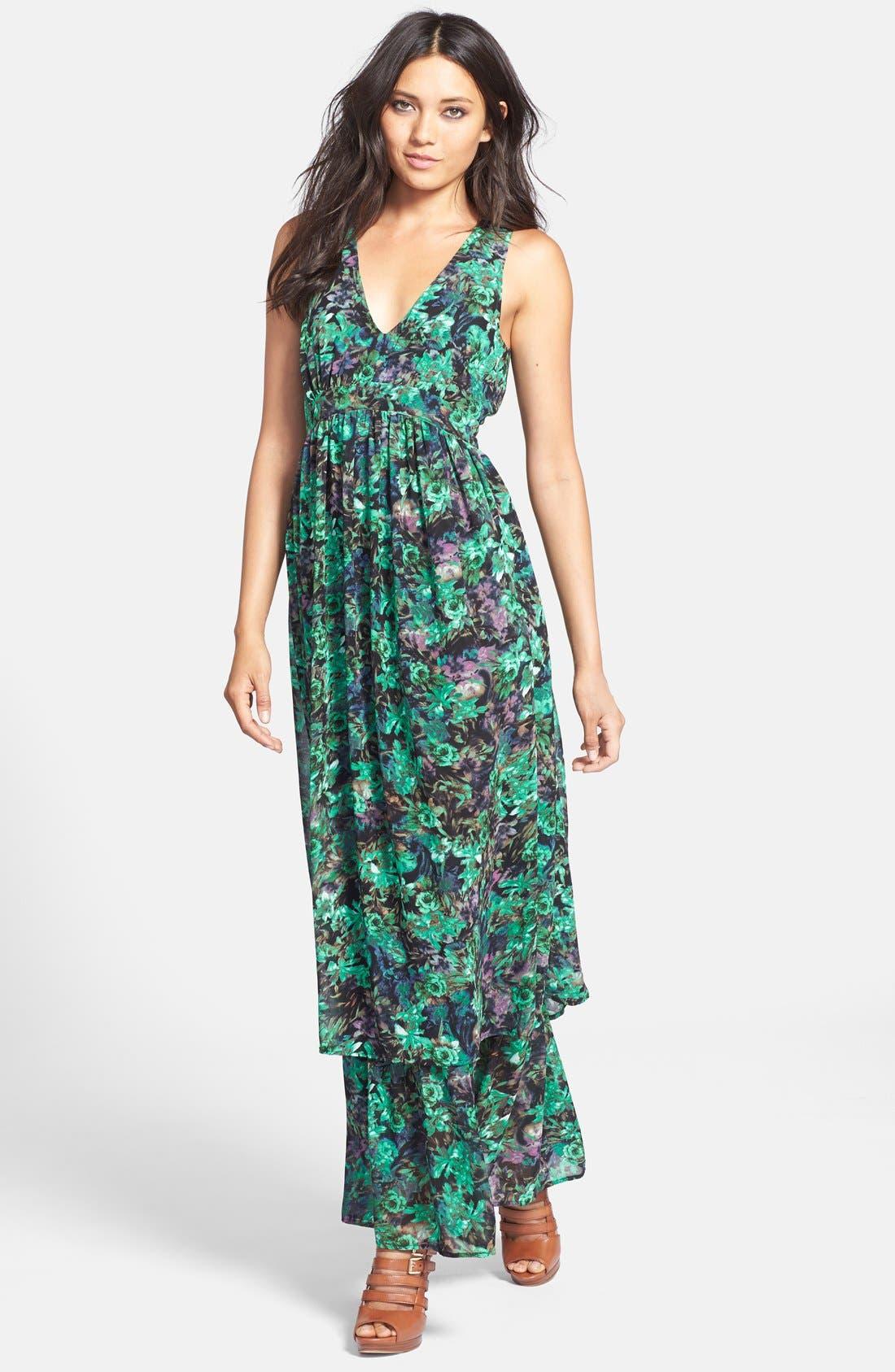Main Image - Sleeveless Slit Maxi Dress
