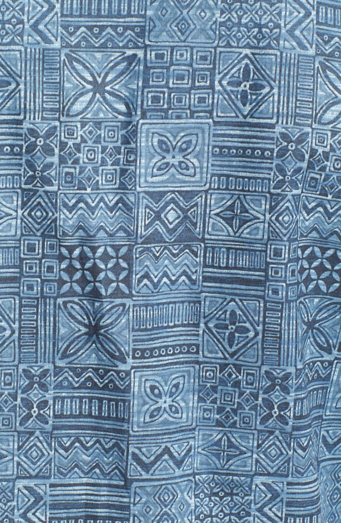 Alternate Image 3  - Tori Richard 'Tapa Maze' Cotton Lawn Campshirt