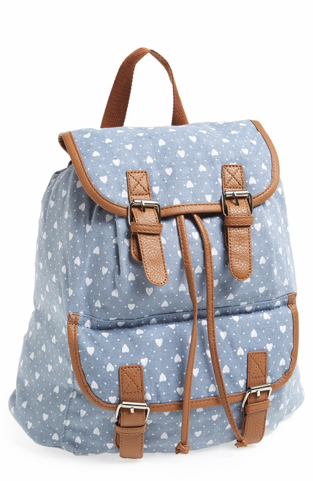 Alternate Image 1 Selected - Amici Accessories Heart Print Backpack (Juniors) (Online Only)