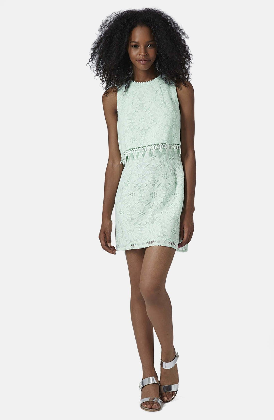 Alternate Image 5  - Topshop Lace Tiered Shift Dress