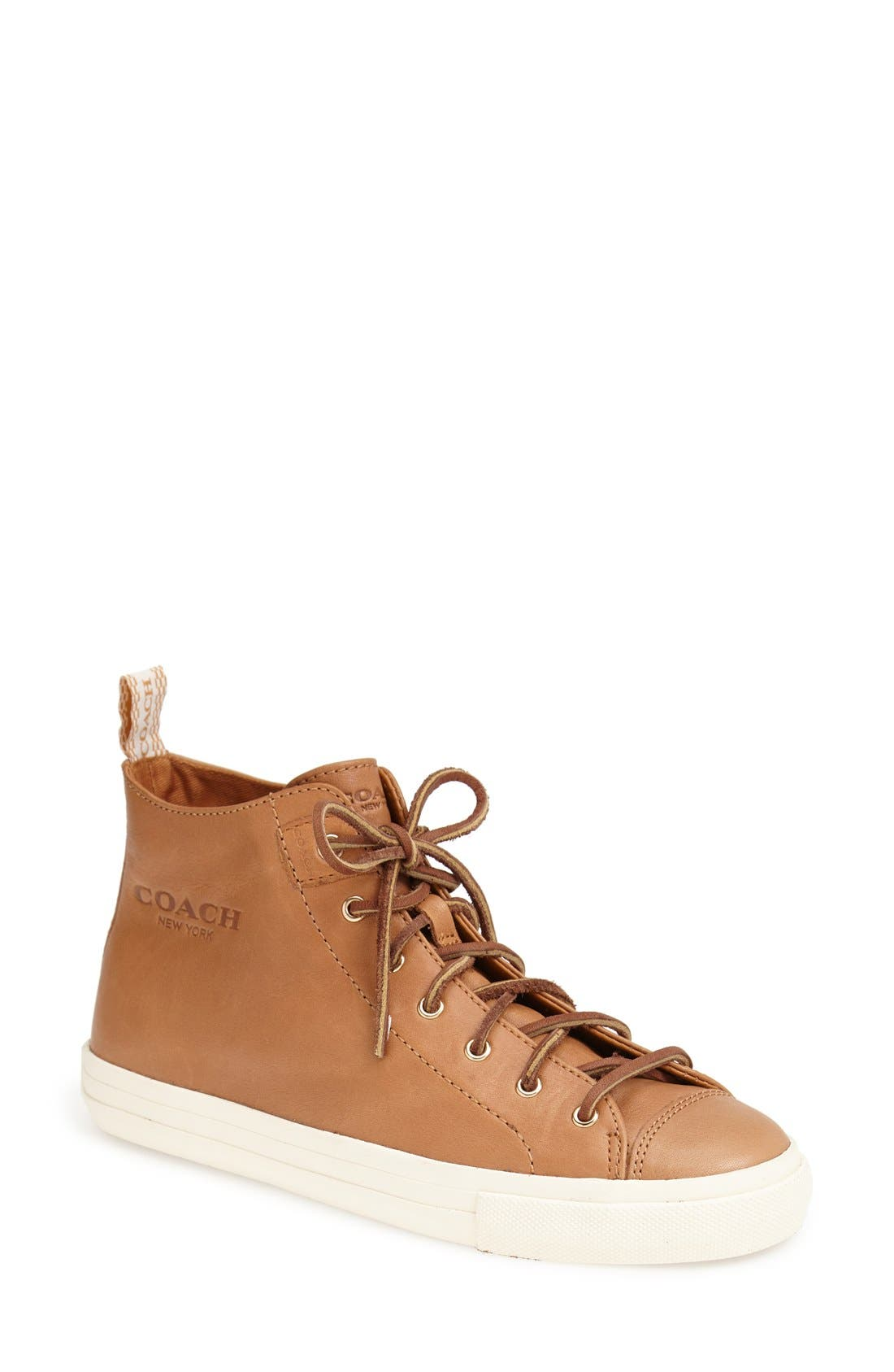 Alternate Image 1 Selected - COACH 'Brenna' Leather Sneaker (Women)