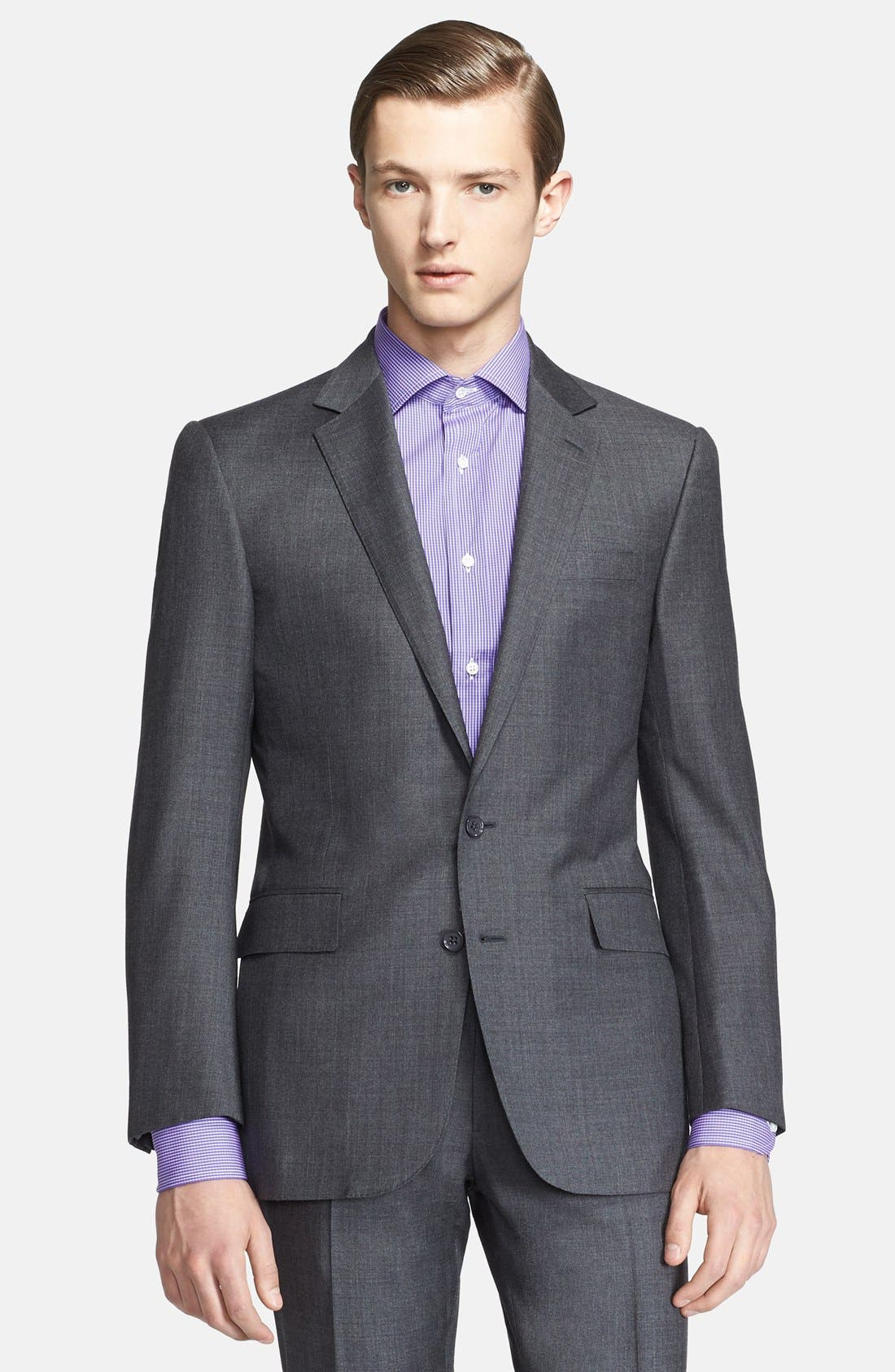 Alternate Image 3  - Ralph Lauren Black Label Trim Fit Grey Wool Suit