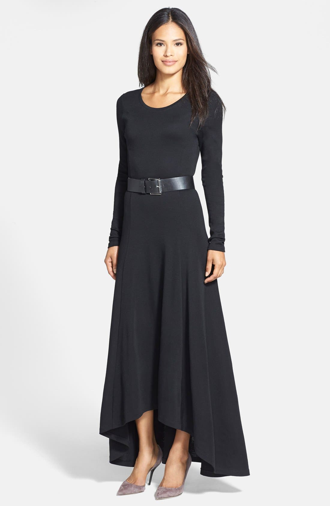Alternate Image 1 Selected - MICHAEL Michael Kors Belted High/Low Maxi Dress