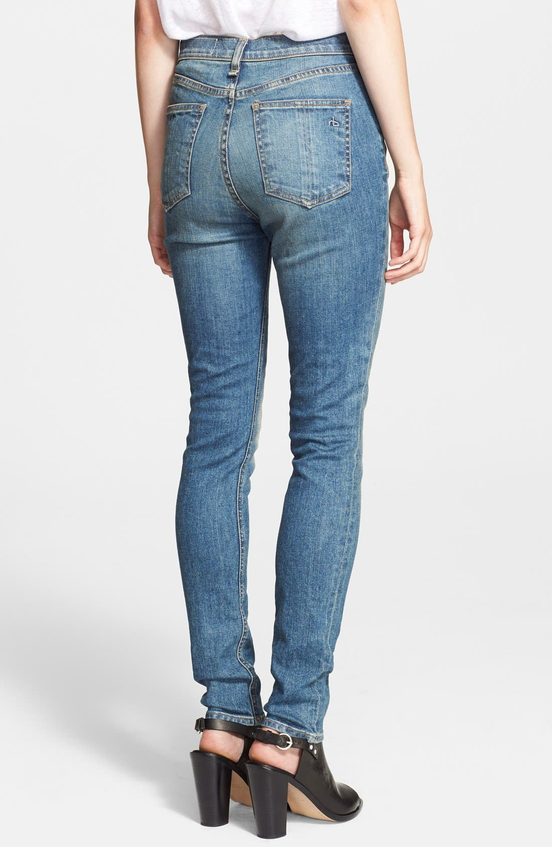 Alternate Image 2  - rag & bone/JEAN 'The Justine' High Rise Jeans (Surf)