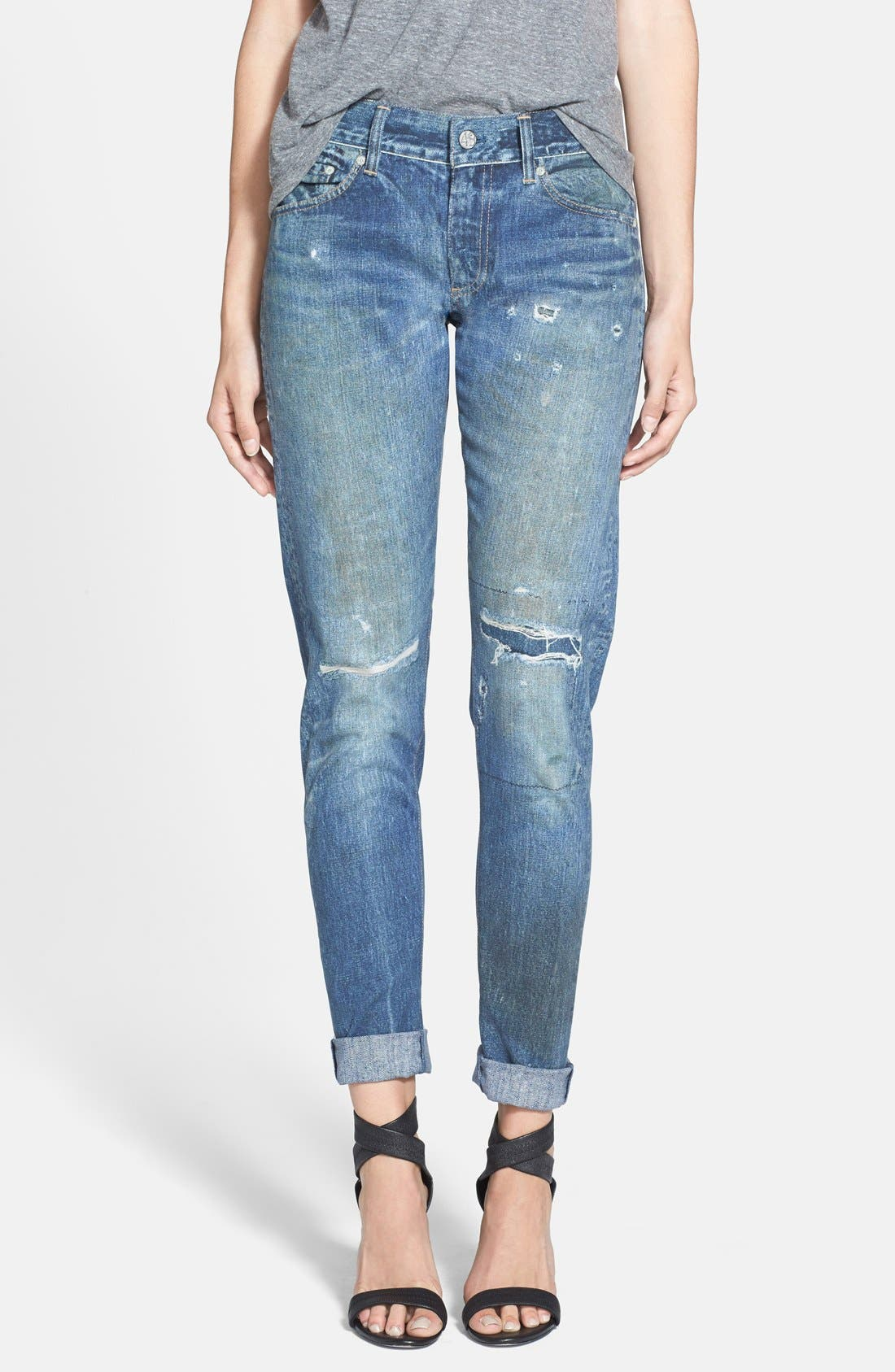 Alternate Image 1 Selected - AG 'Digital Luxe Nikki' Relaxed Skinny Jeans (Teller)