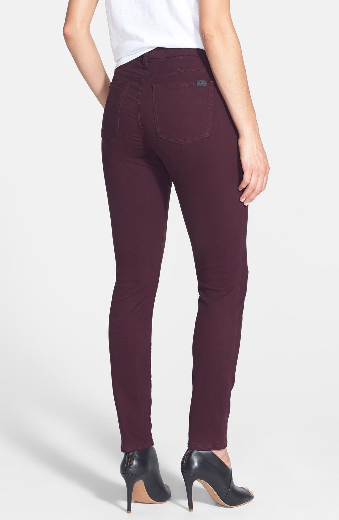 Alternate Image 2  - Jen7 Colored Stretch Denim Skinny Jeans