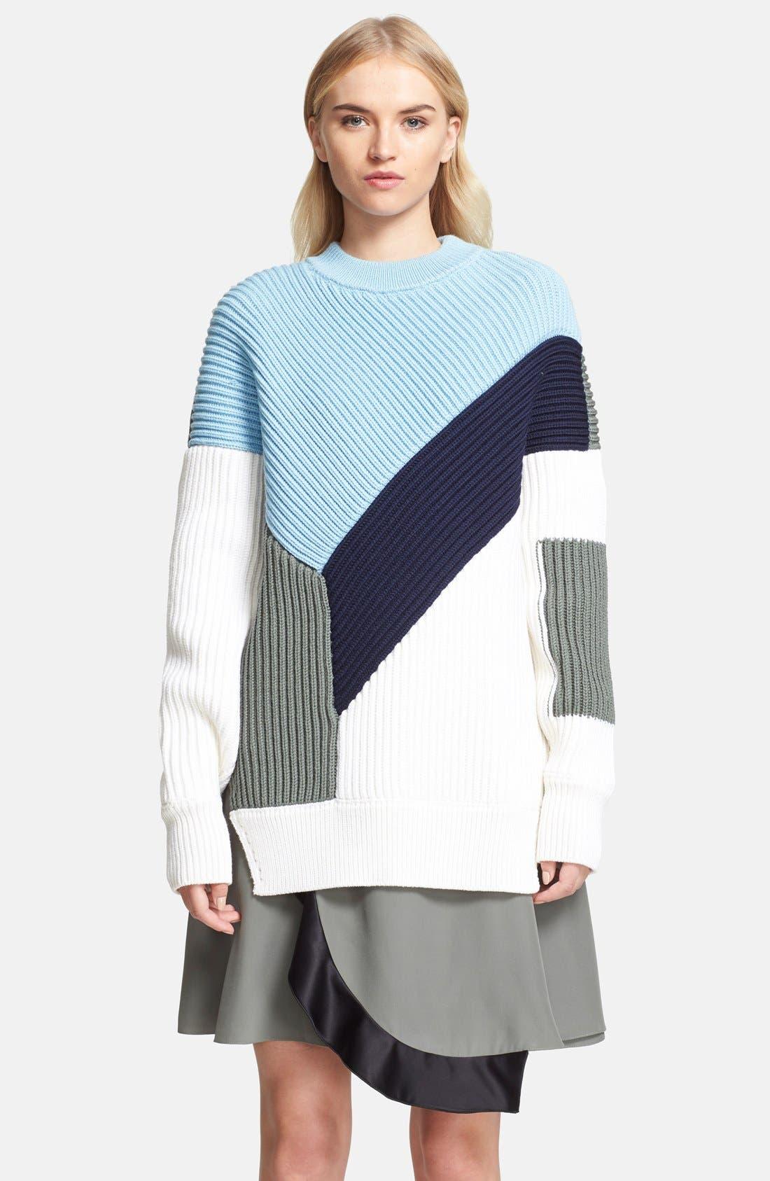 Alternate Image 3  - Prabal Gurung Colorblock Chunky Knit Sweater