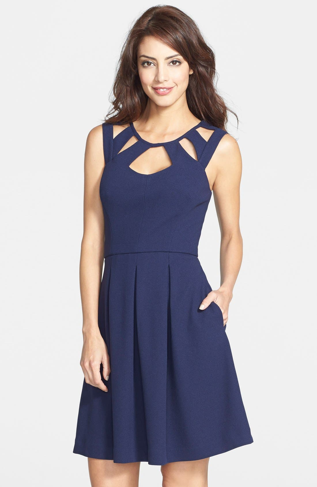 Alternate Image 1 Selected - Betsey Johnson Cutout Fit & Flare Dress