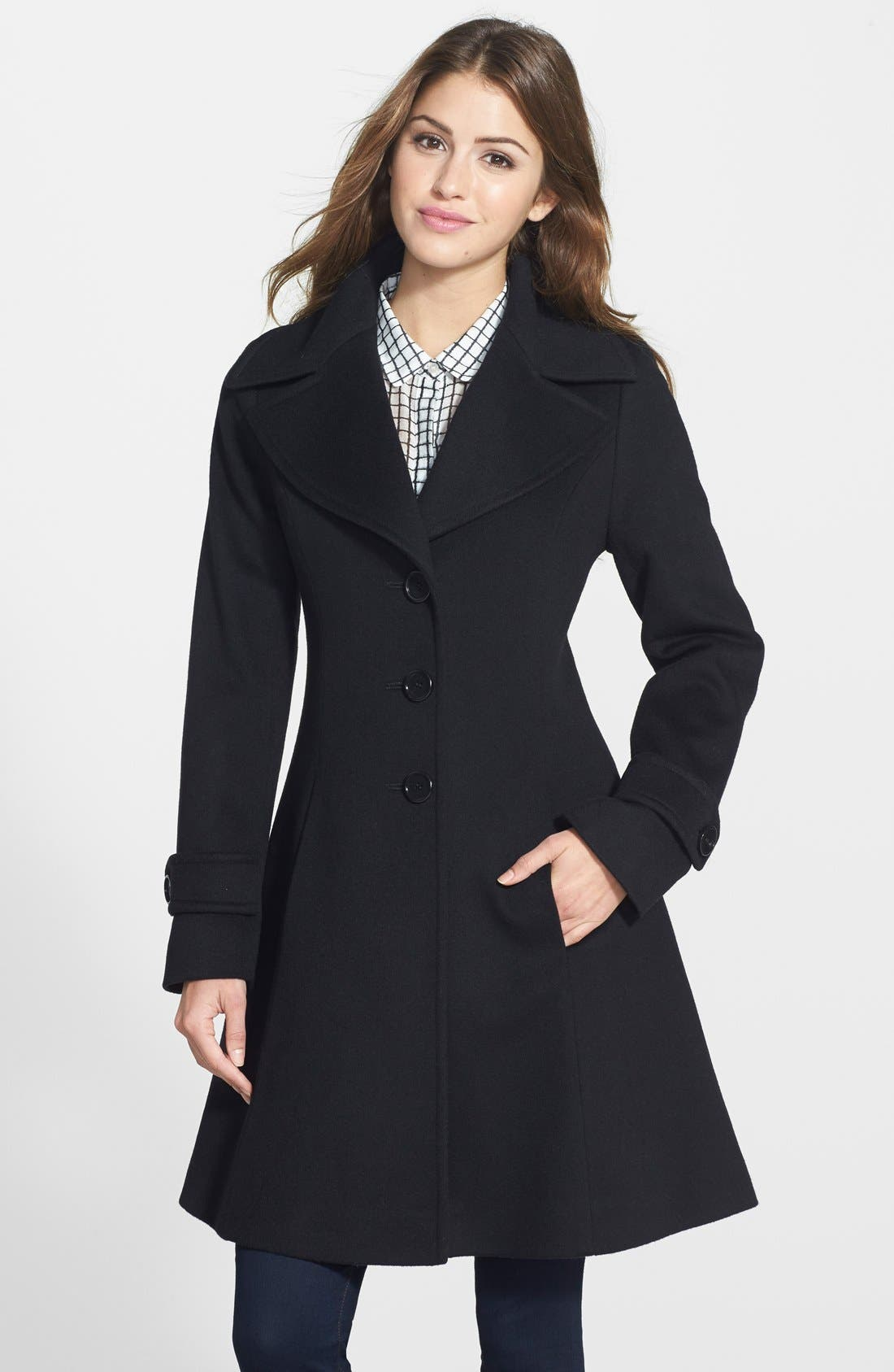 Main Image - Fleurette Loro Piana Wool Princess Coat (Petite) (Nordstrom Exclusive)