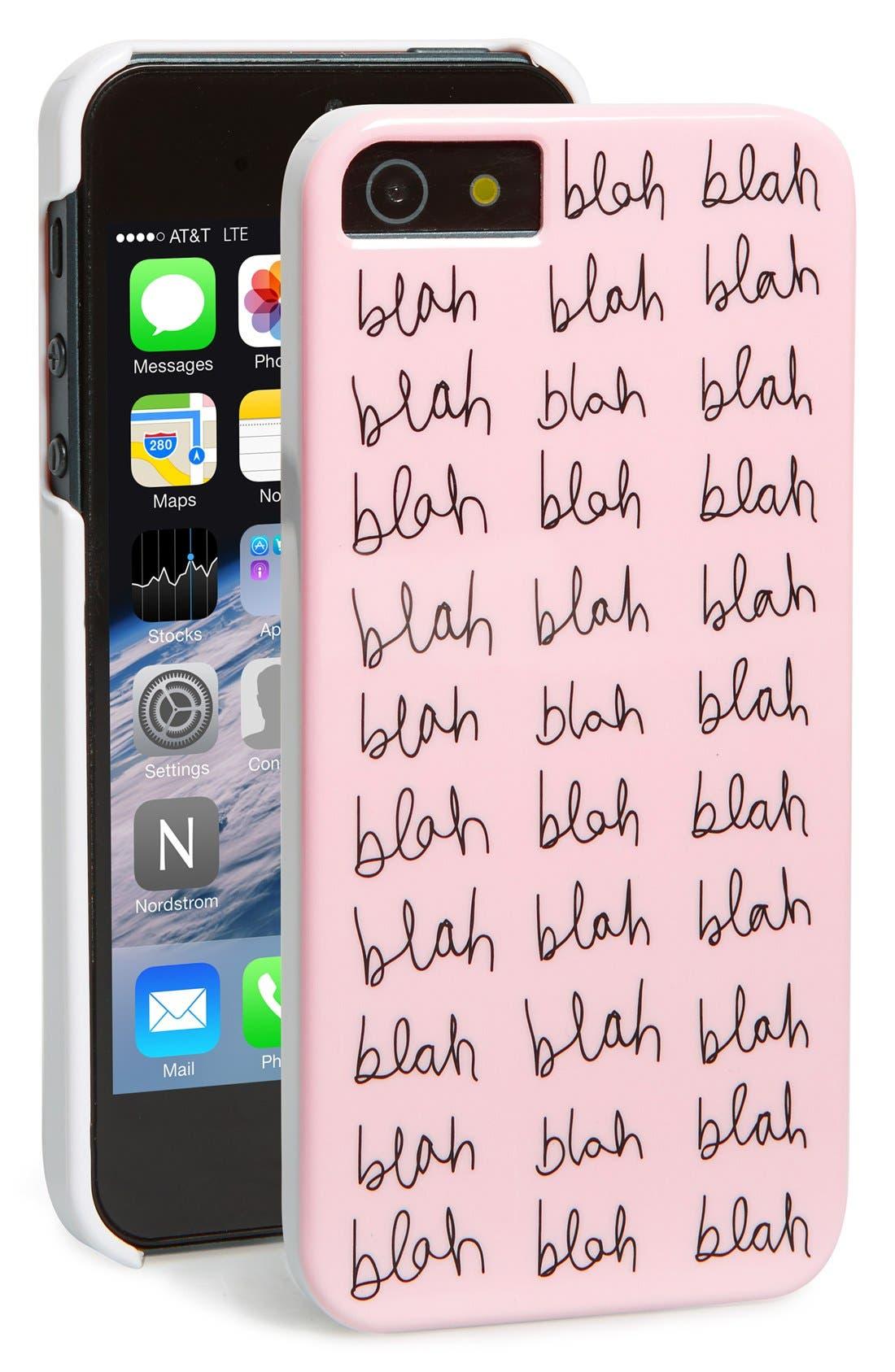 Alternate Image 1 Selected - ban.do 'Blah Blah Blah' iPhone 5 & 5s Case