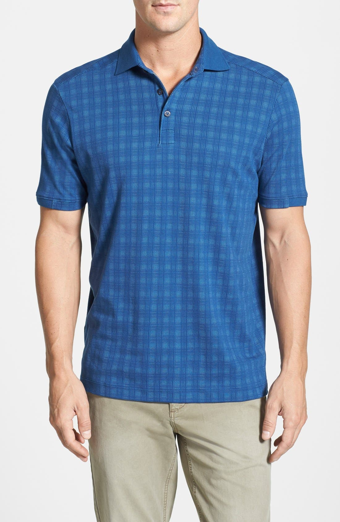 Alternate Image 1 Selected - Tommy Bahama 'Double Take' Cotton Blend Polo