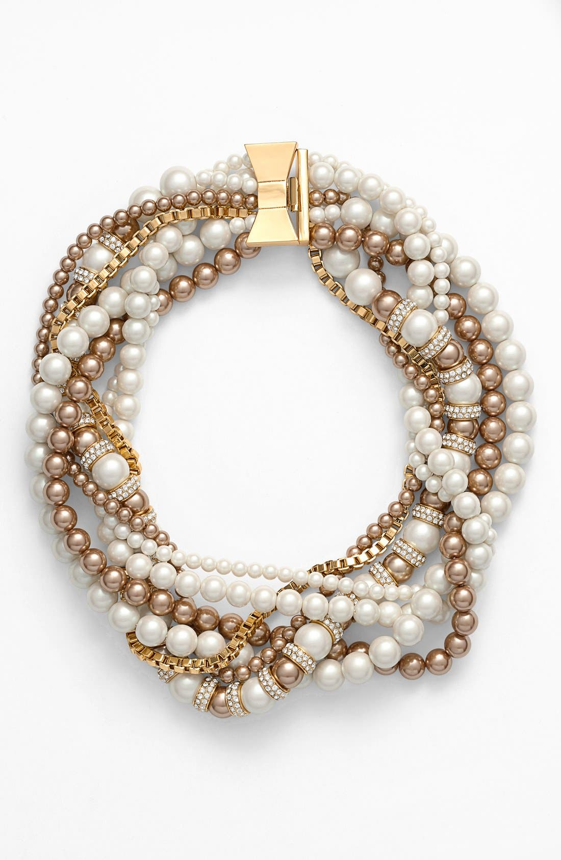 Main Image - kate spade new york 'parlour pearl' twisted statement necklace