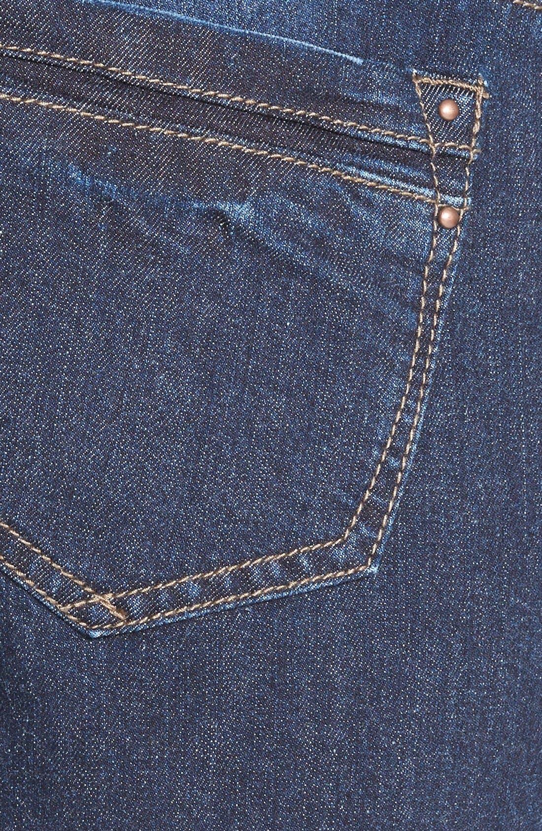 Alternate Image 3  - HART Denim 'Leigh' Destroyed Patched Skinny Jeans (Dark Wash)