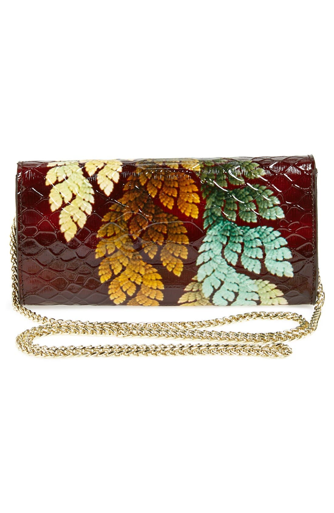 Alternate Image 4  - Sondra Roberts Croc Embossed Clutch