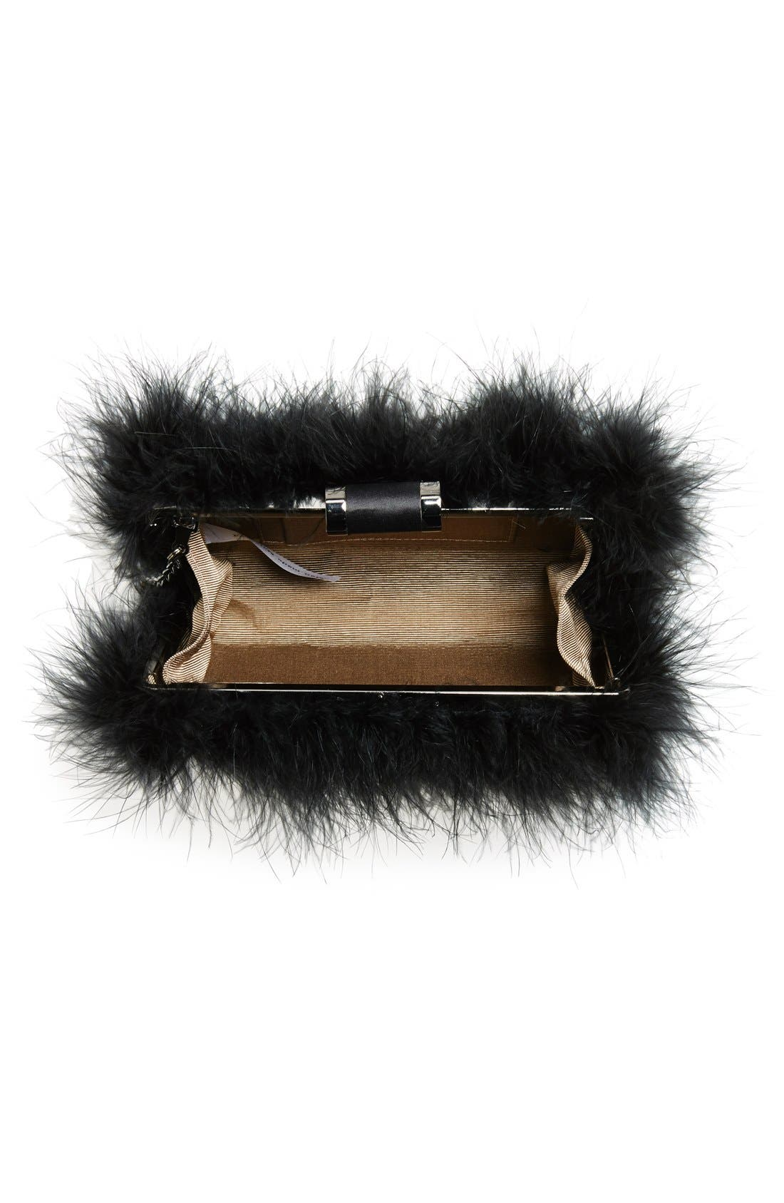 Alternate Image 3  - Sondra Roberts 'Furry Monster' Feather Clutch