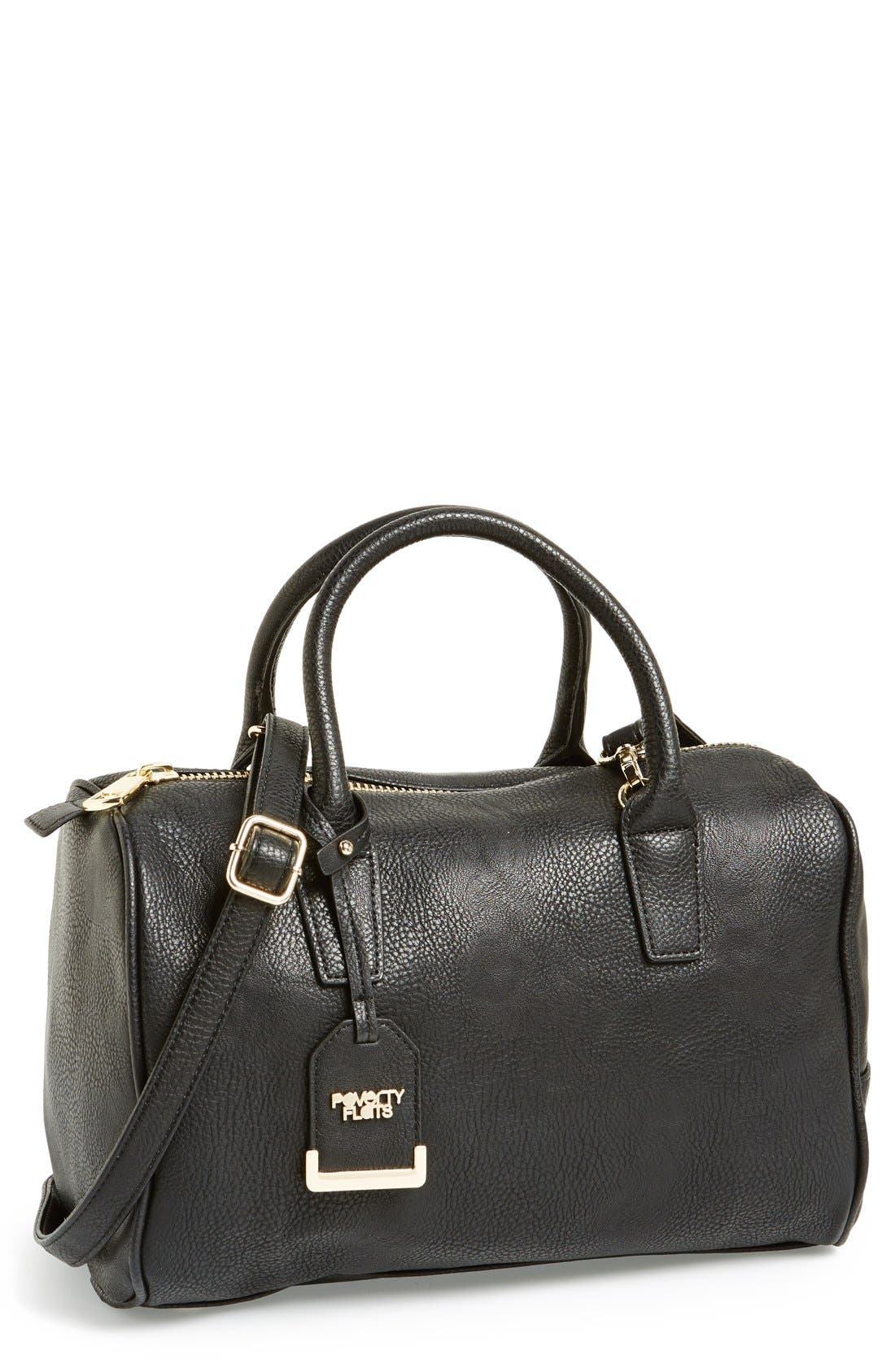 Alternate Image 1 Selected - POVERTY FLATS by rian Faux Leather Zip Satchel