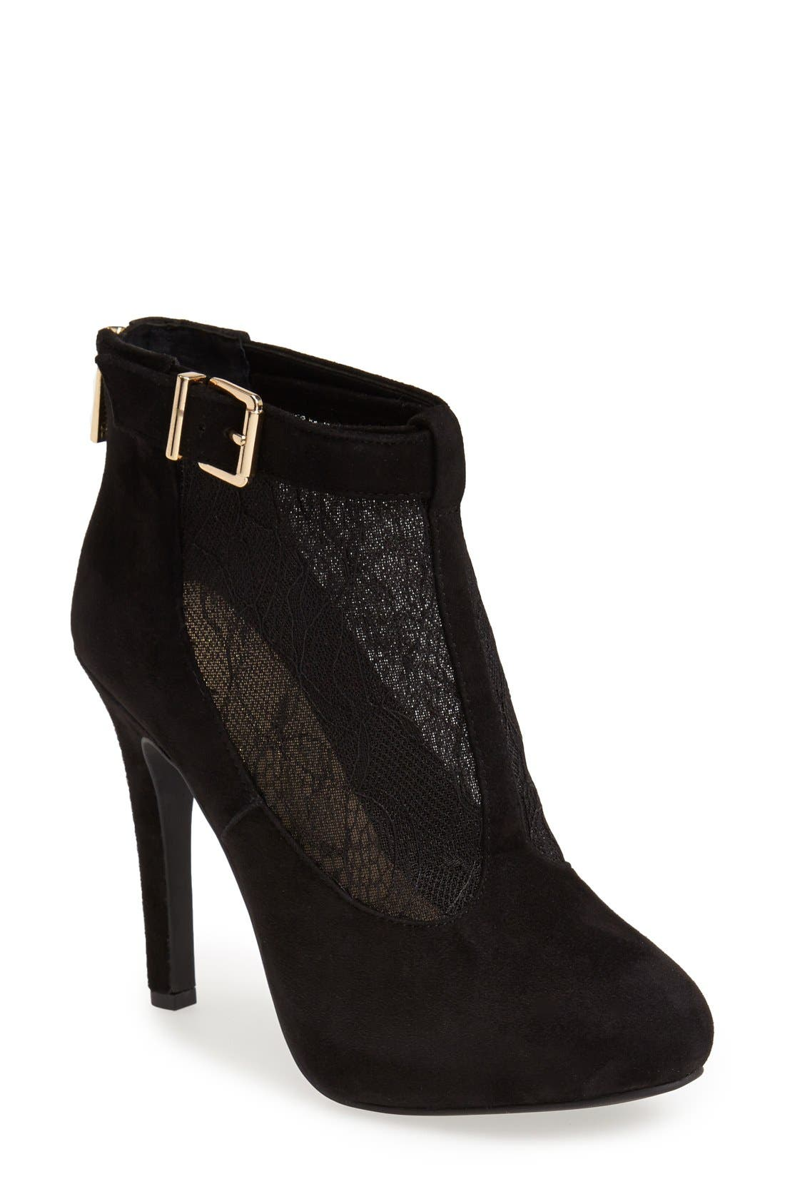 Alternate Image 1 Selected - Jessica Simpson 'Shauna' Lace & Suede Bootie (Women)