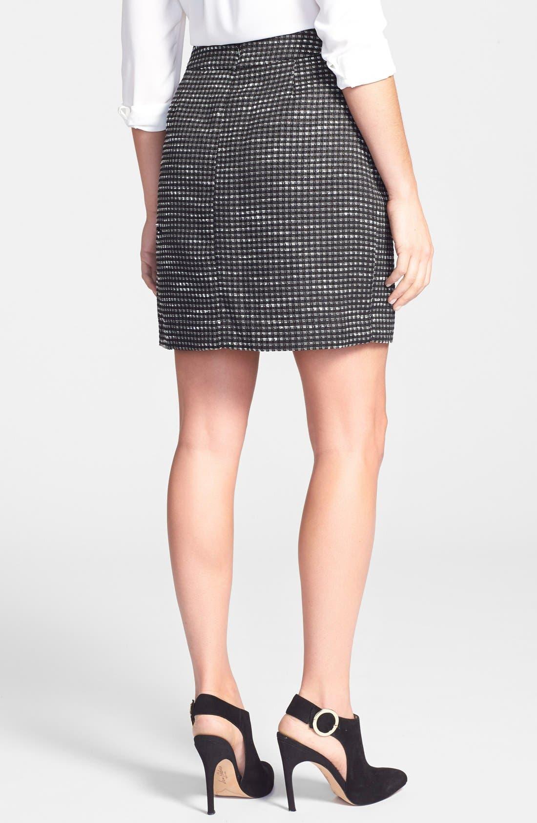 Alternate Image 2  - Halogen® Pleated A-Line Skirt (Regular & Petite)