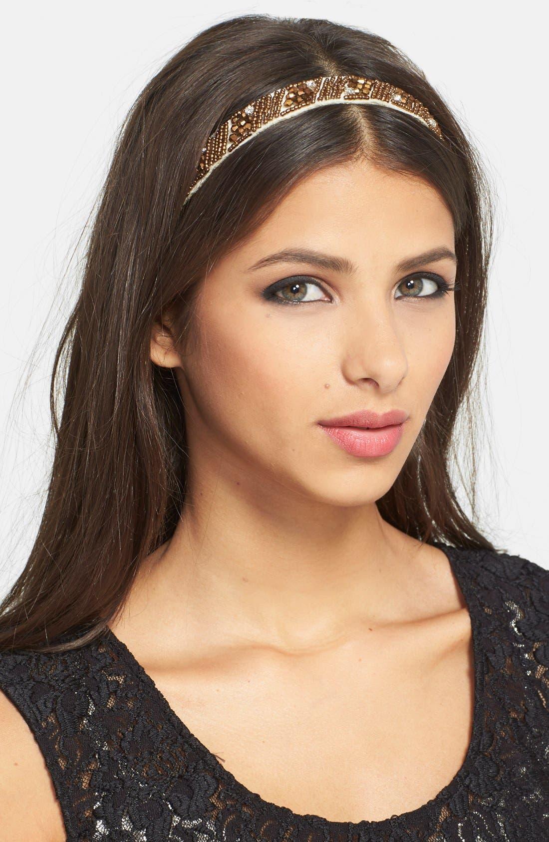 Alternate Image 1 Selected - Tasha 'Royal Beads' Head Wrap
