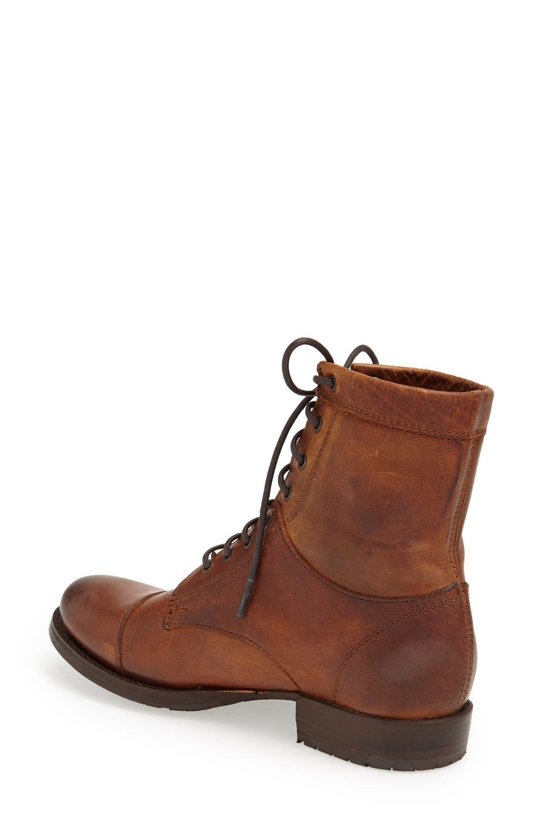Alternate Image 2  - Frye 'Erin' Cap Toe Leather Lace-Up Boot (Women)