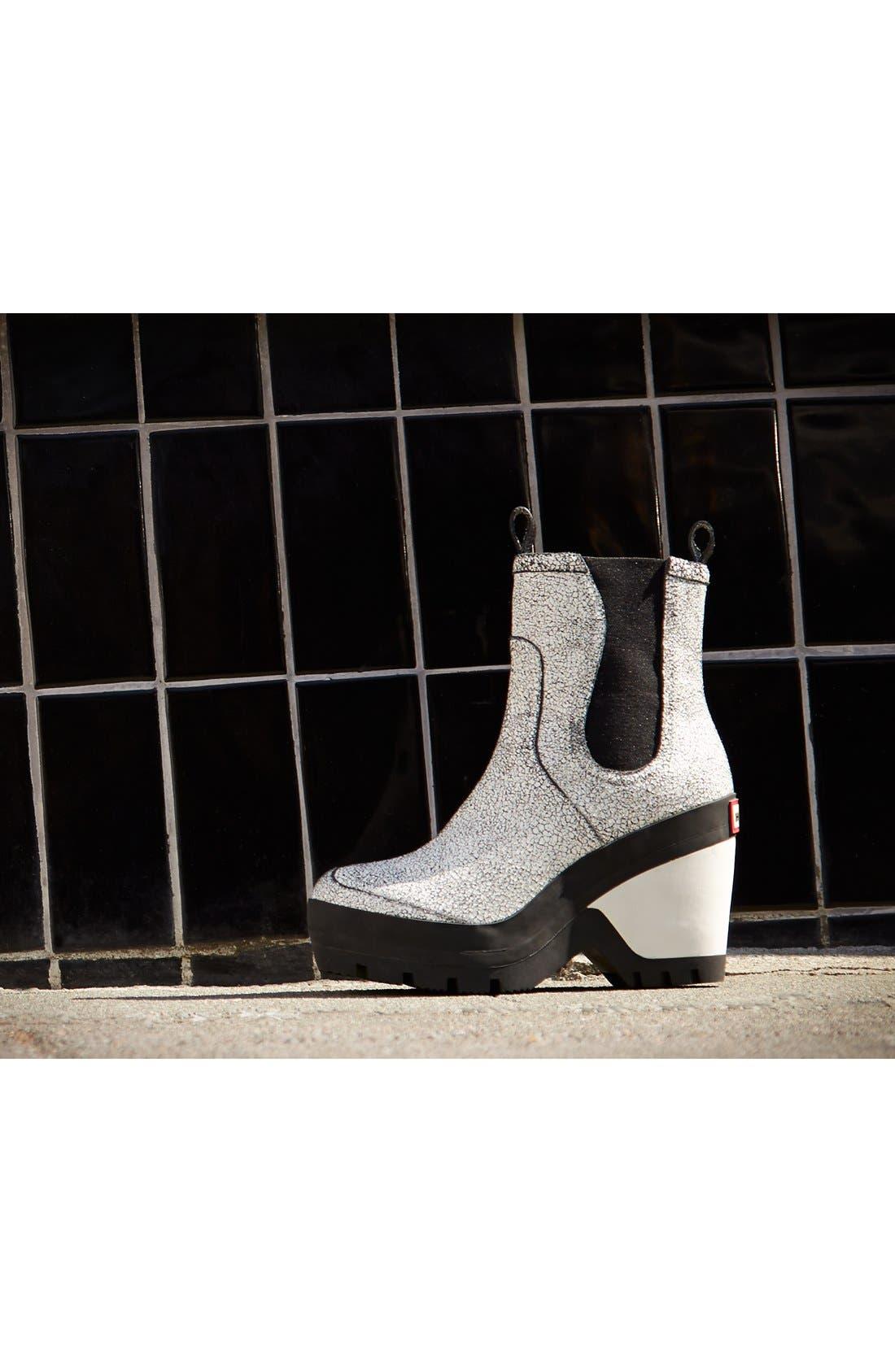 Alternate Image 5  - Hunter Crackled Leather Chelsea Rain Boot (Women)