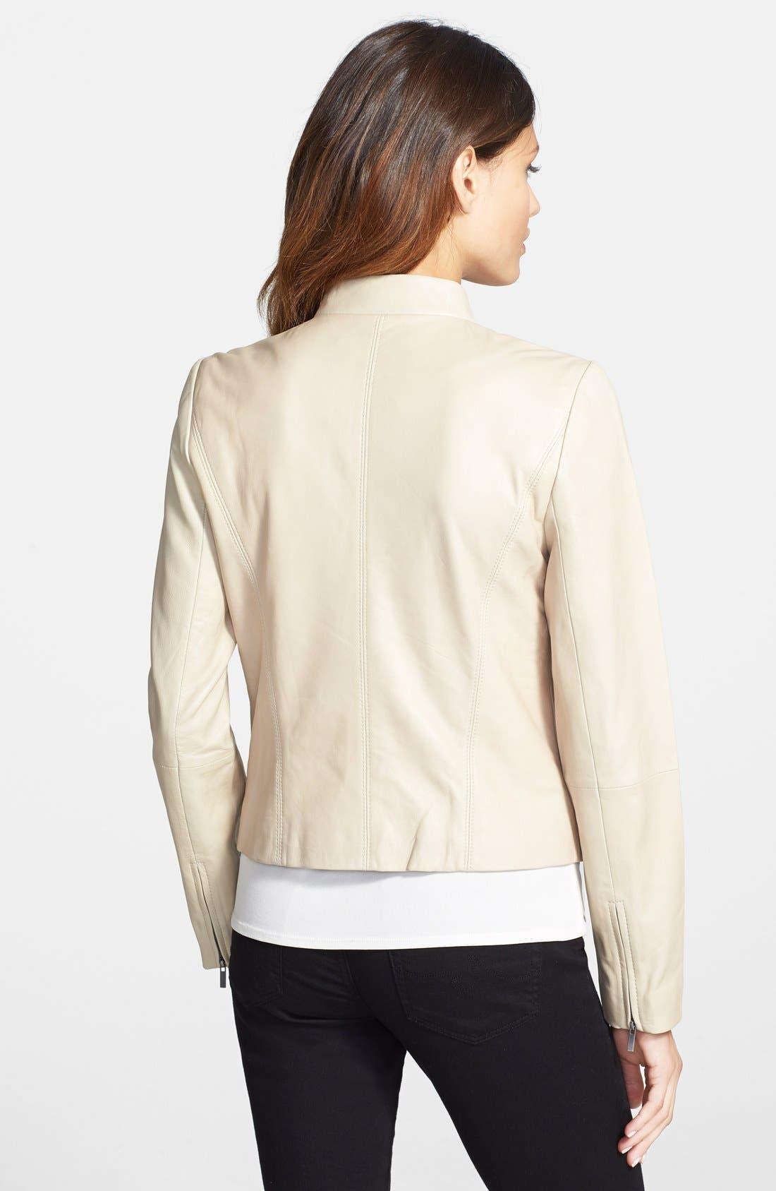 Alternate Image 2  - Classiques Entier® Double Zip Detail Leather Jacket