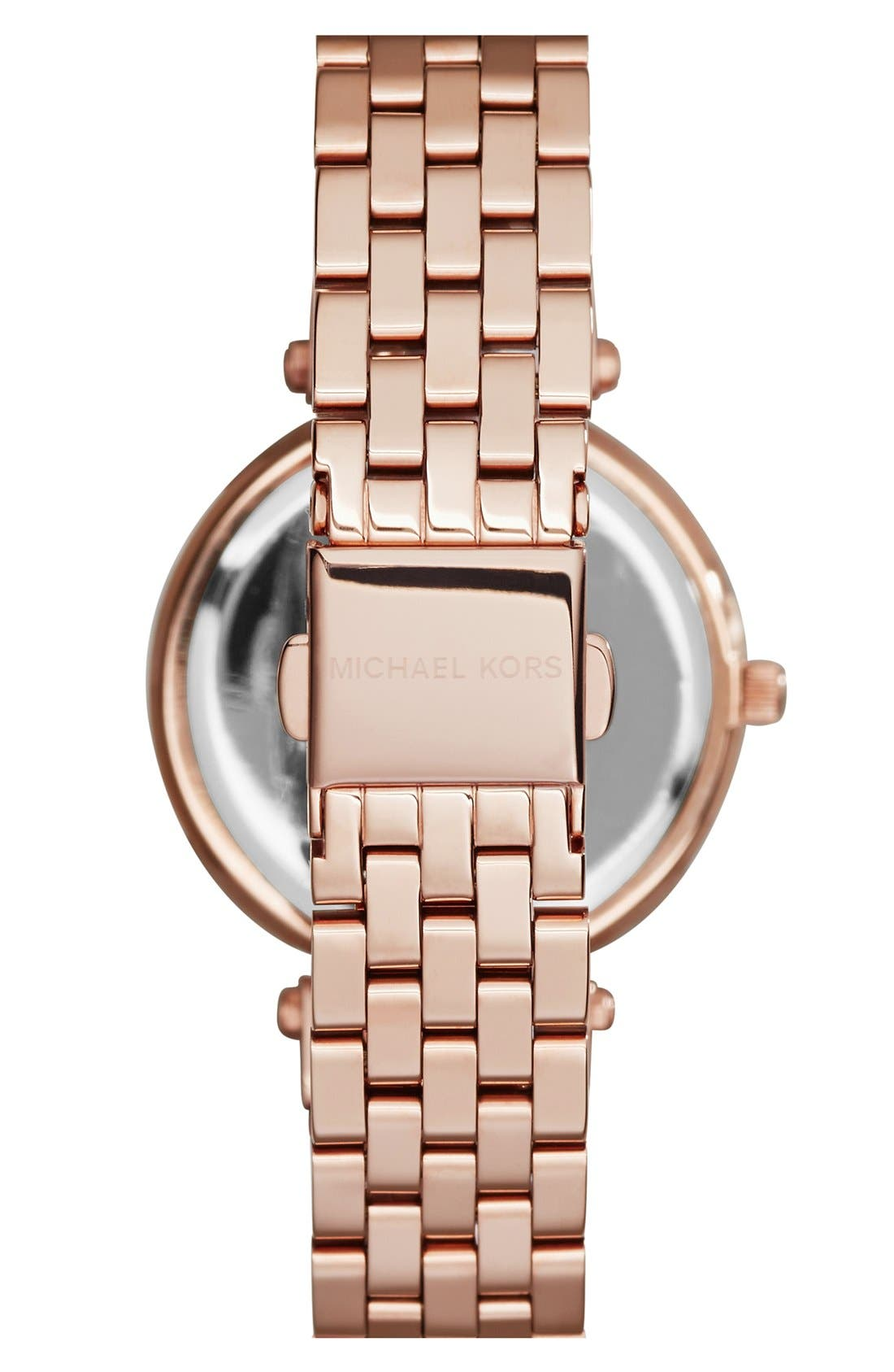Alternate Image 2  - Michael Kors 'Mini Darci' Round Bracelet Watch, 33mm