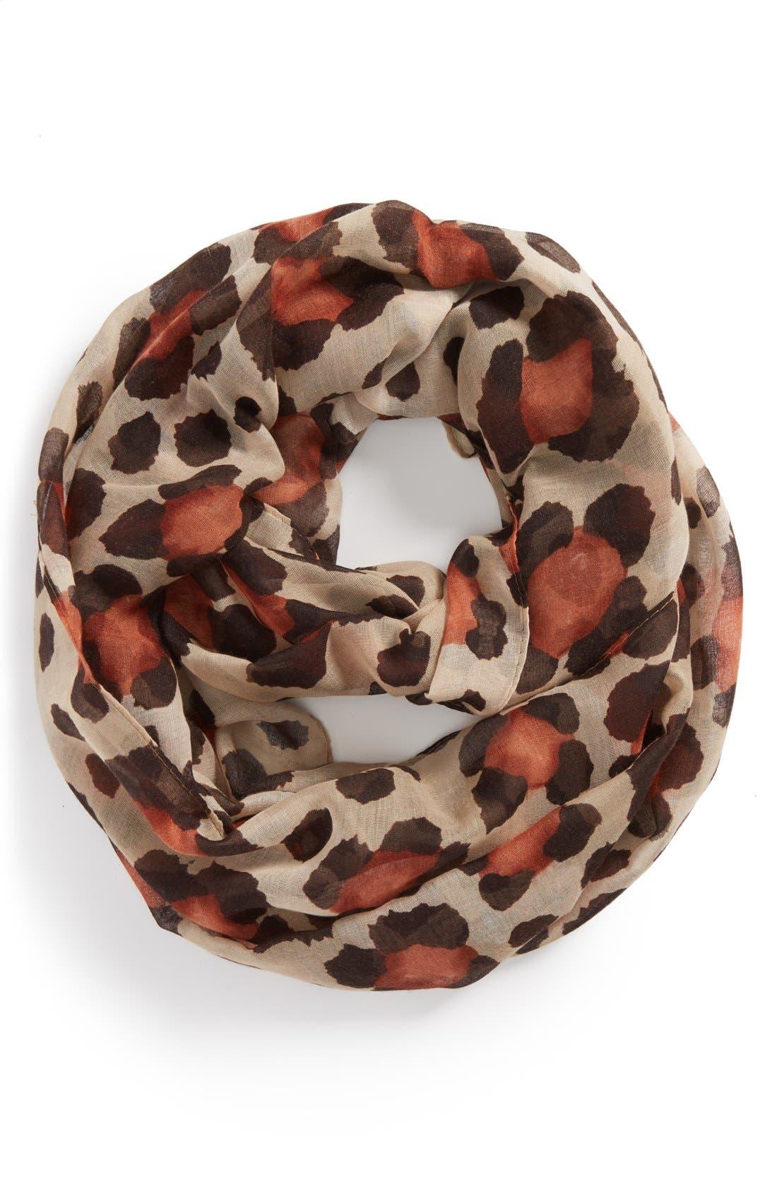 Alternate Image 1 Selected - Tasha 'Floral Cheetah' Infinity Scarf