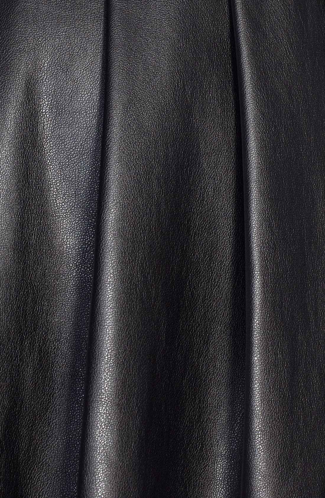 Alternate Image 3  - Ella Moss 'Raquel' Pleated Faux Leather Skirt