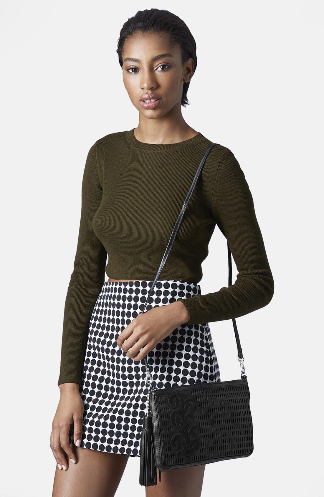 Alternate Image 2  - Topshop Floral Tassel Crossbody Bag