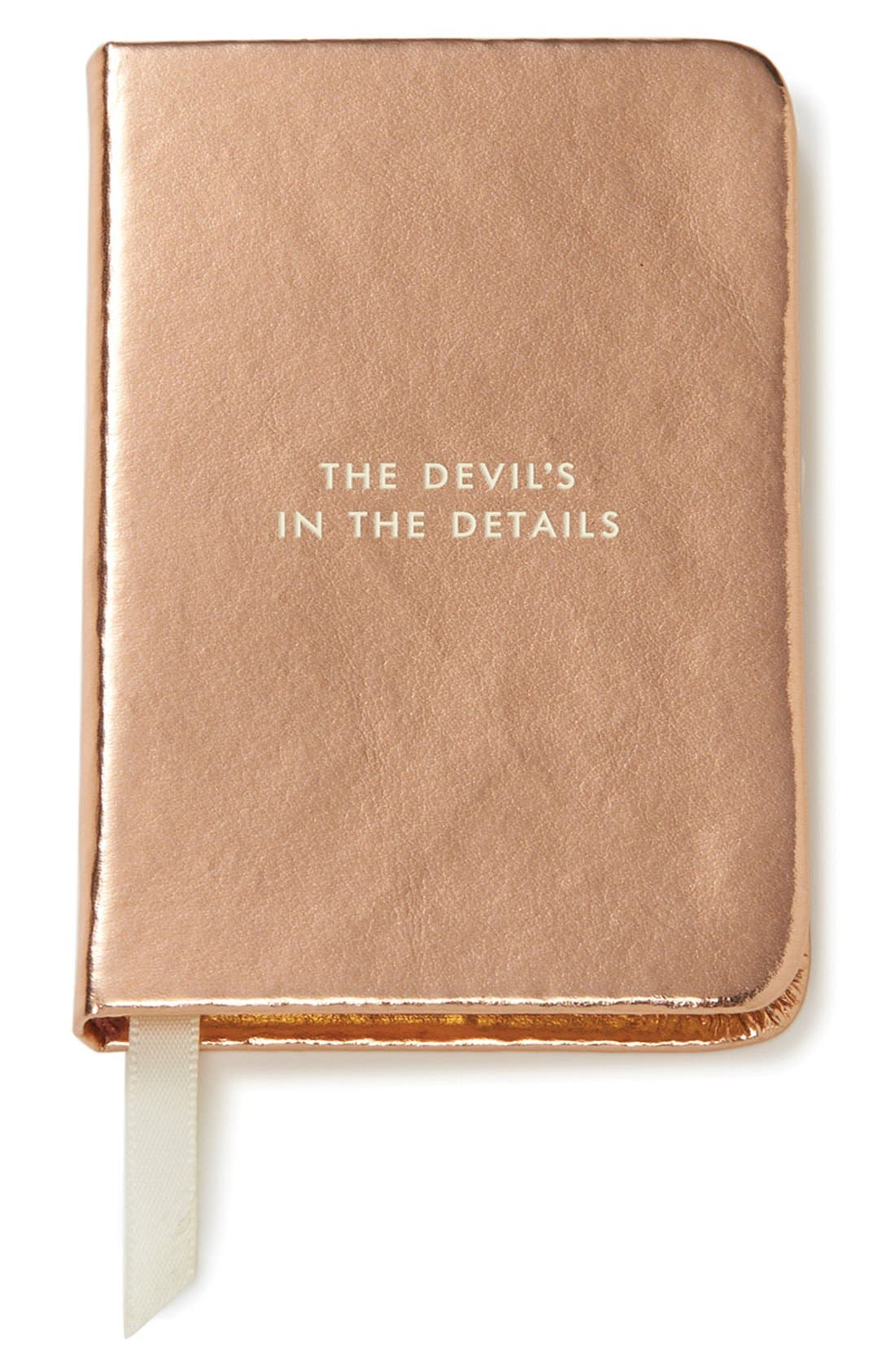 Alternate Image 1 Selected - kate spade new york 'the devil's in the details' mini notebook