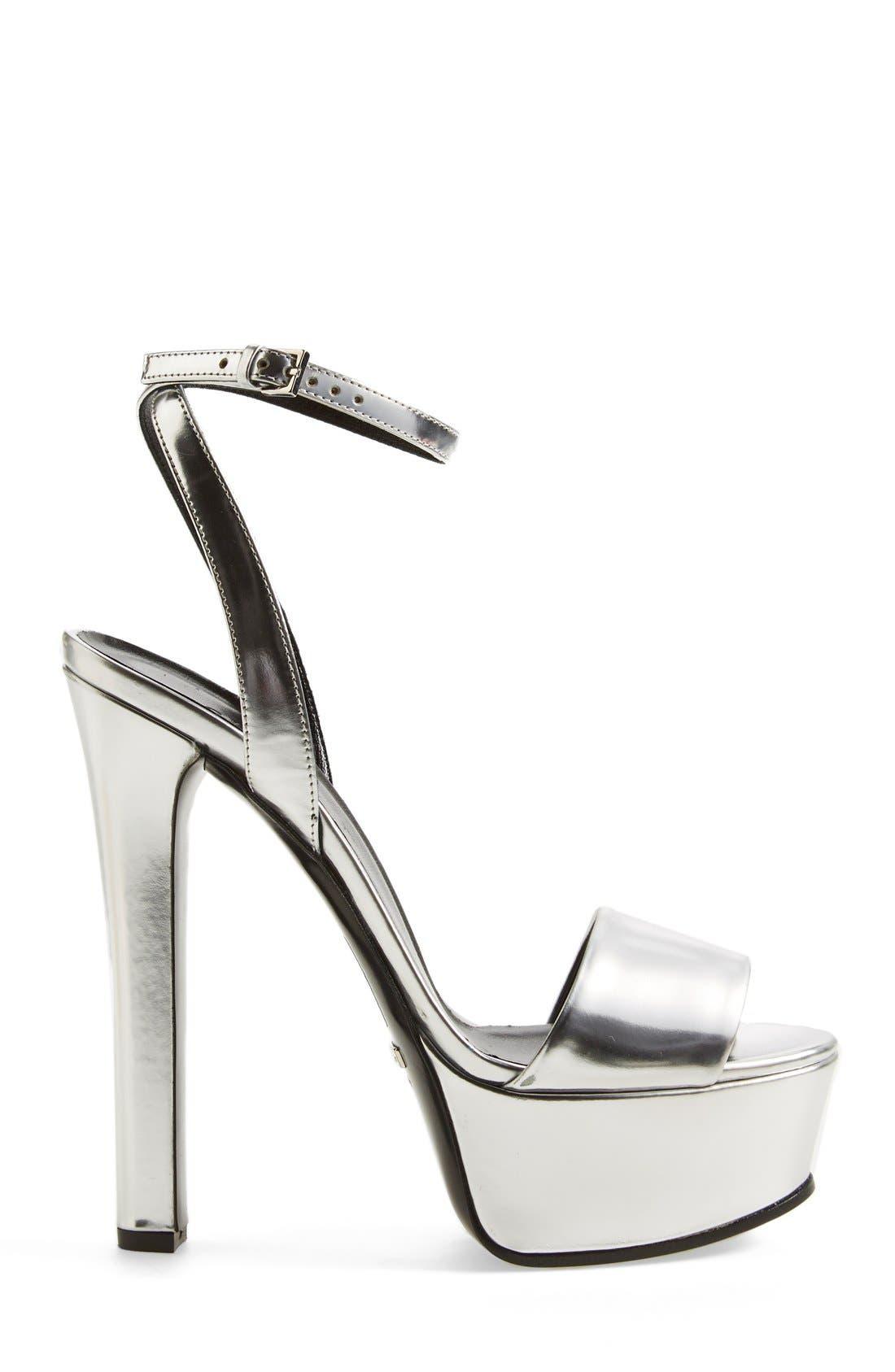 Alternate Image 4  - Gucci 'Leila' Metallic Platform Sandal (Women)