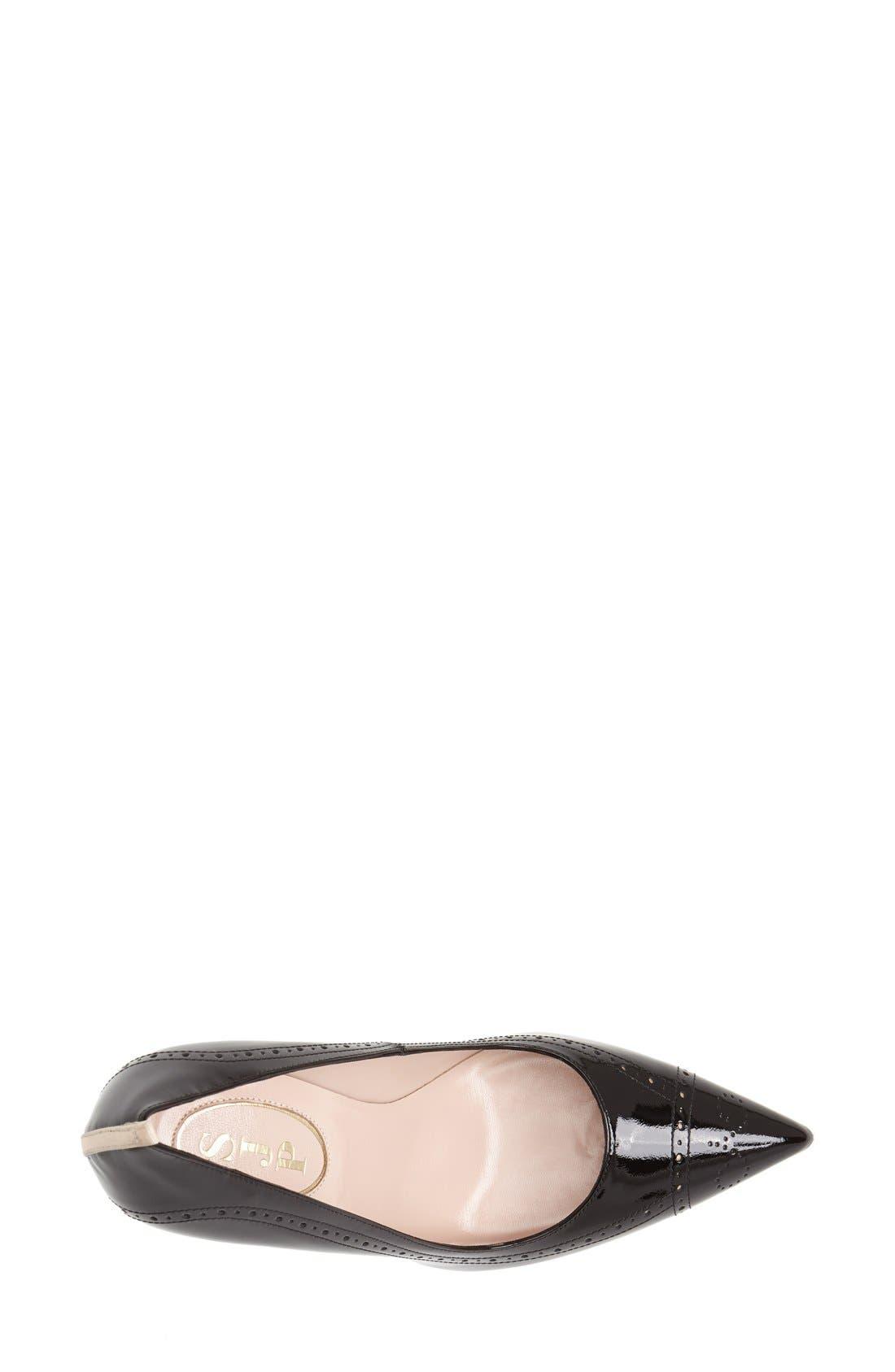 Alternate Image 3  - SJP by Sarah Jessica Parker 'Marlene' Brogue Detail Pointy Toe Pump