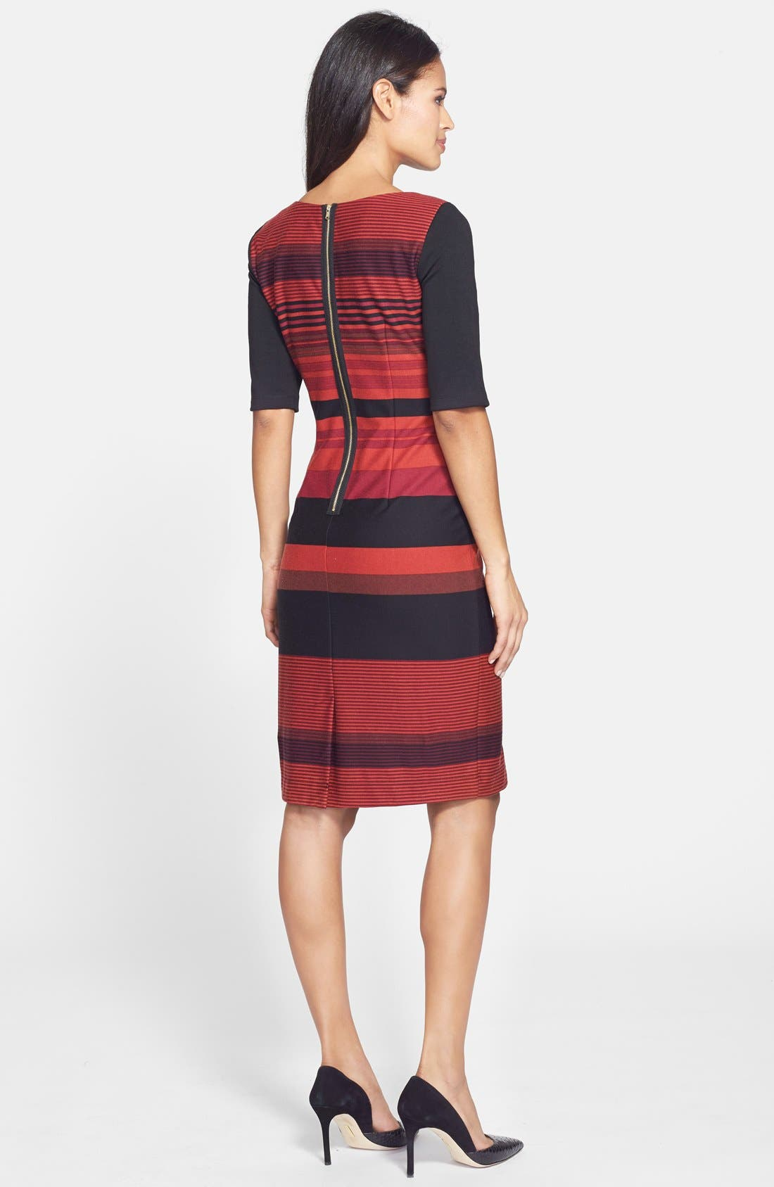 Alternate Image 2  - Gabby Sky Stripe Ponte Sheath Dress