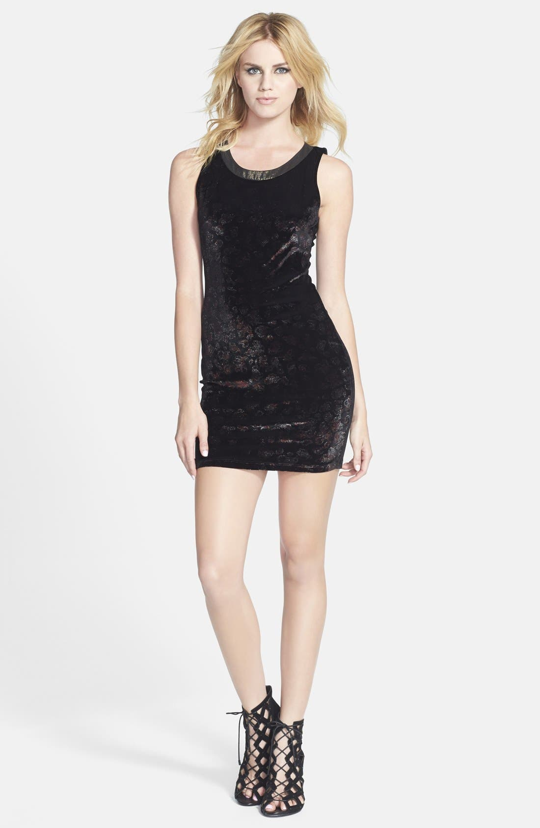 Alternate Image 1 Selected - ASTR Velvet Body-Con Dress