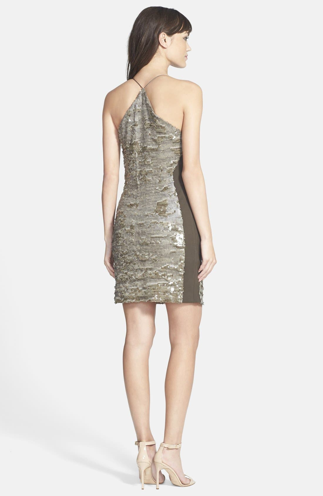 Alternate Image 2  - GREYLIN 'Alaia' Sequin Racerback Body-Con Dress