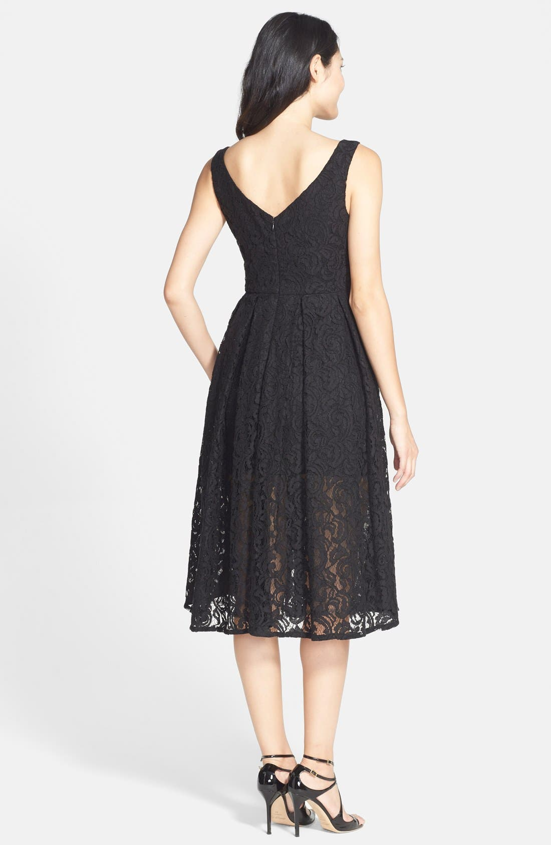 Alternate Image 2  - Bardot 'Rosie' Lace Midi Fit & Flare Dress (Nordstrom Exclusive)