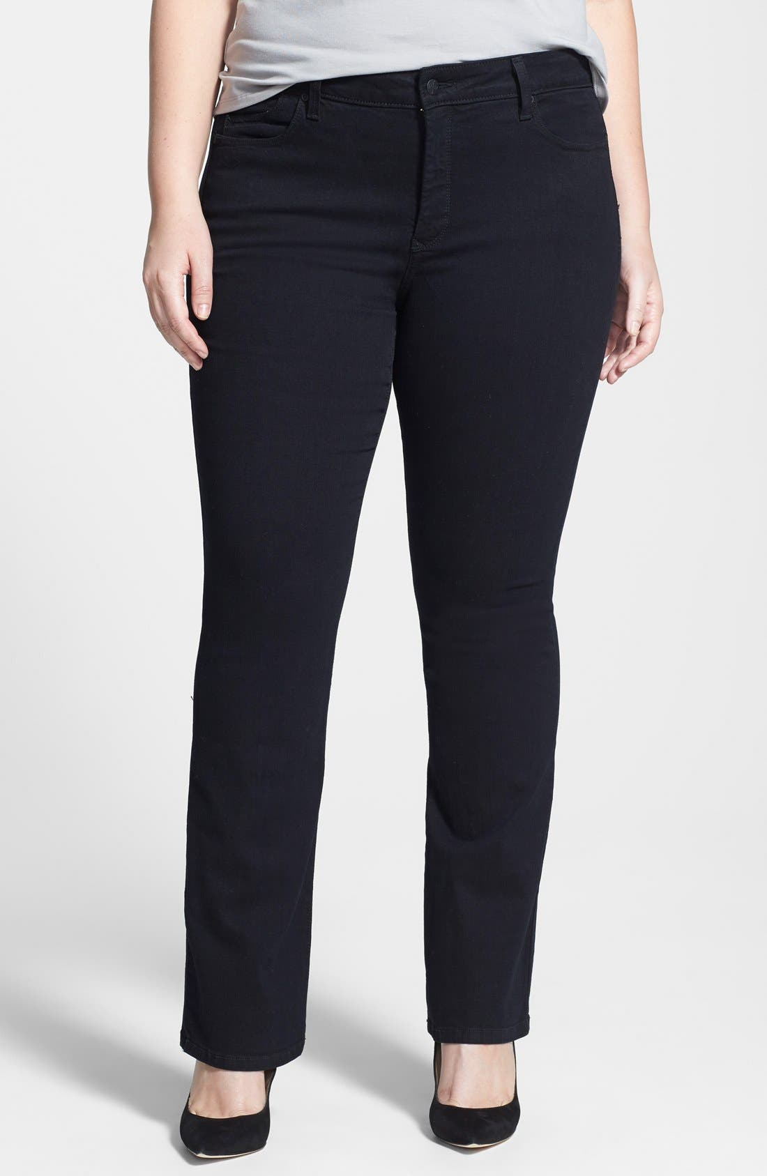 Main Image - NYDJ 'Billie' Stretch Mini Bootcut Jeans (Plus Size)