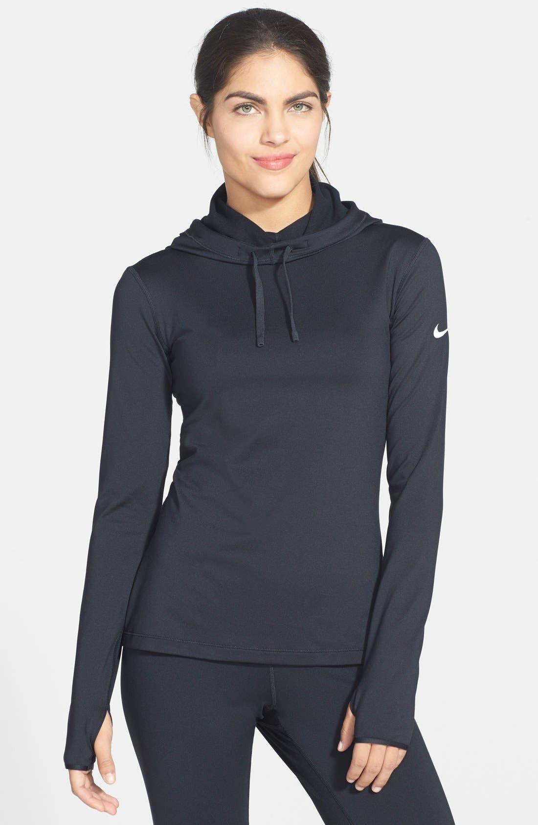Alternate Image 1 Selected - Nike 'Pro Hyperwarm' Fitted Hoodie