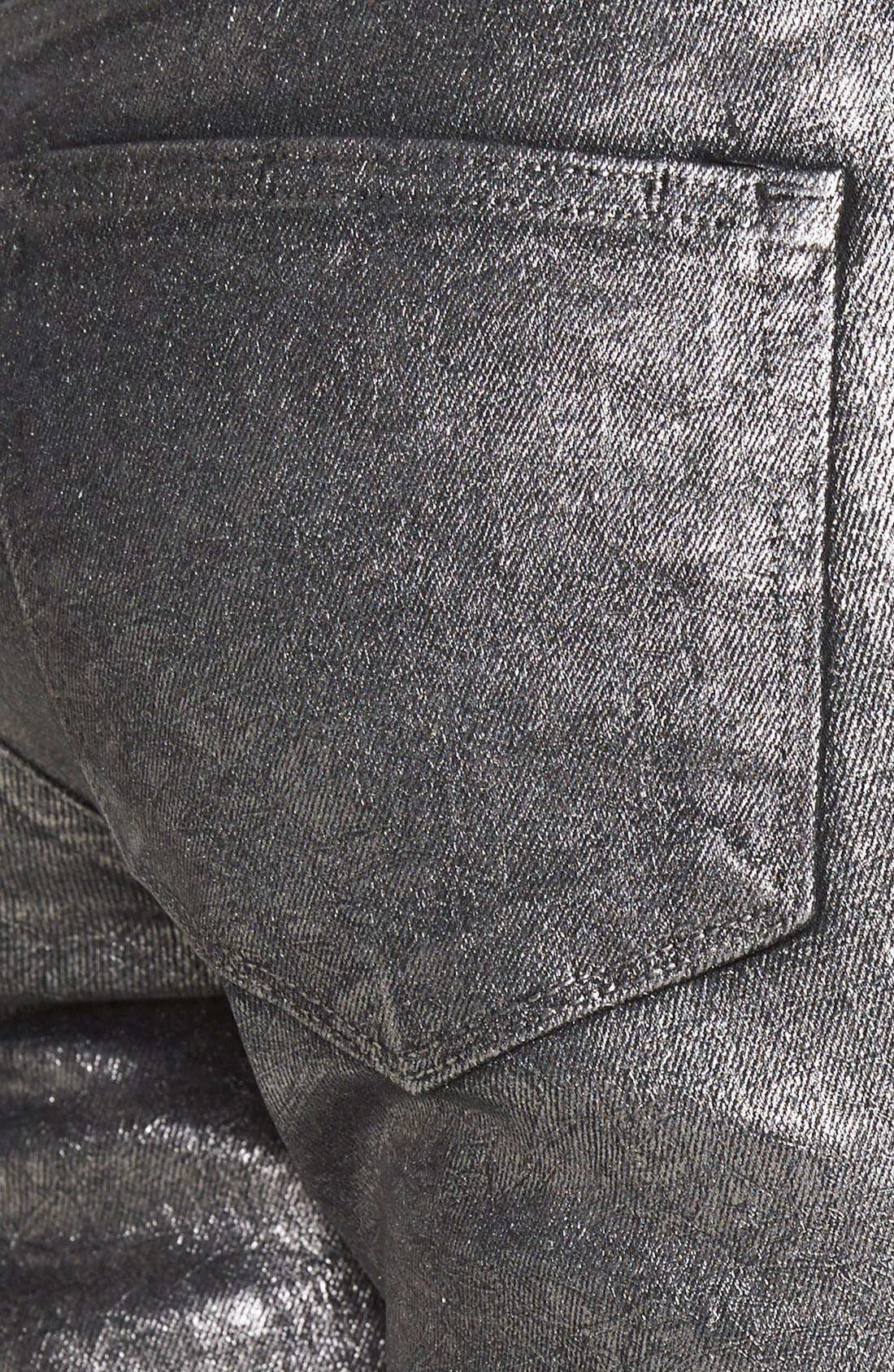 Alternate Image 3  - Paige Denim 'Verdugo' Ultra Skinny Jeans (Pewter Crackle)