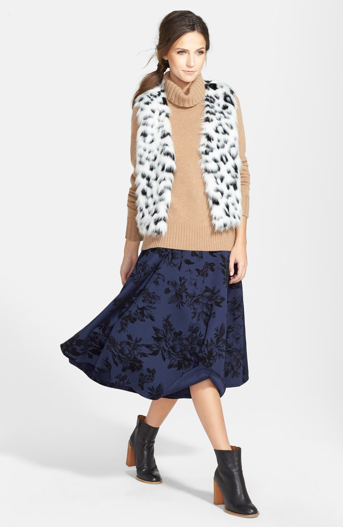 Alternate Image 4  - Halogen® Turtleneck Cashmere Sweater (Regular & Petite)